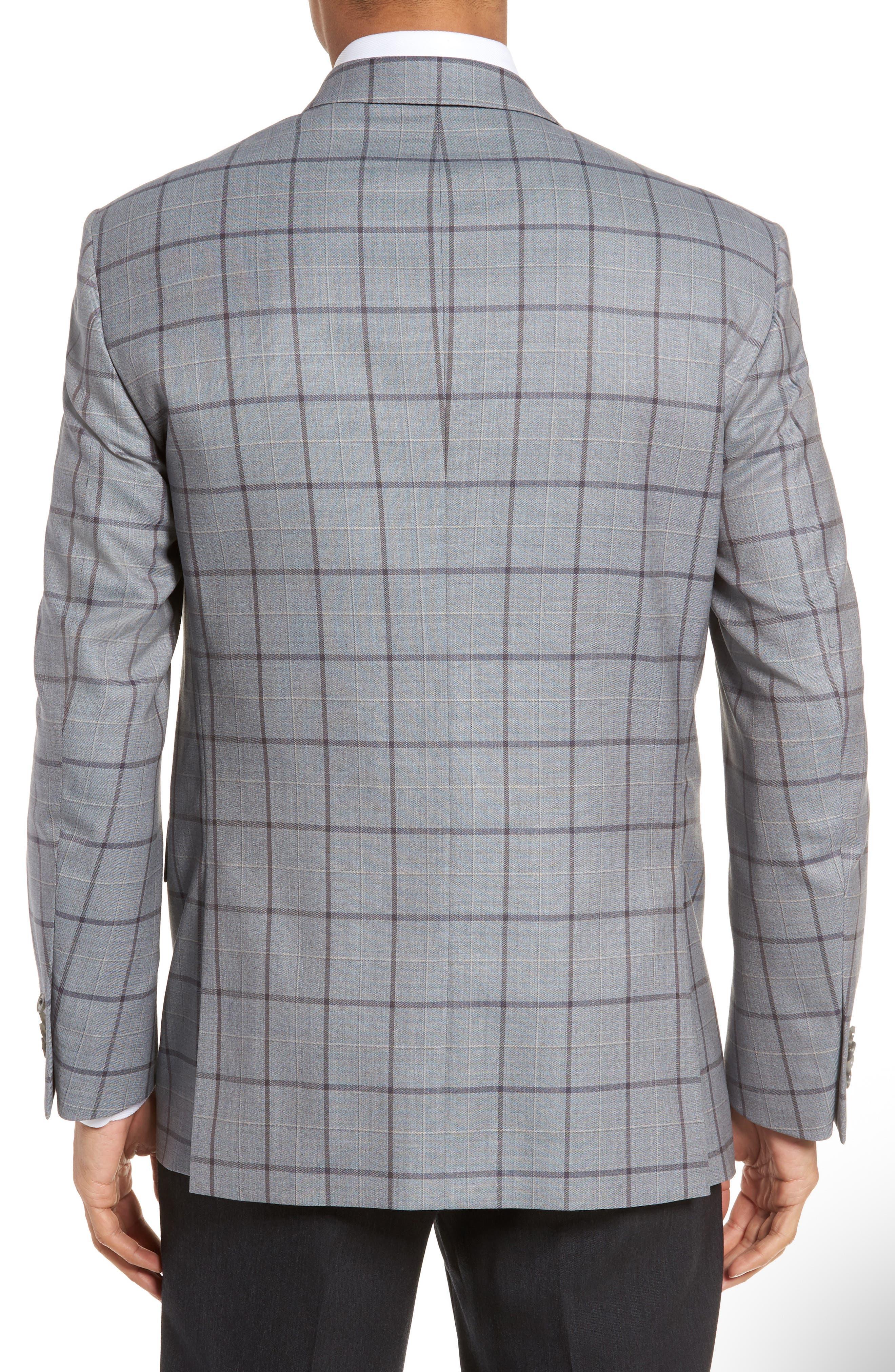 Classic Fit Windowpane Wool Sport Coat,                             Alternate thumbnail 2, color,                             020