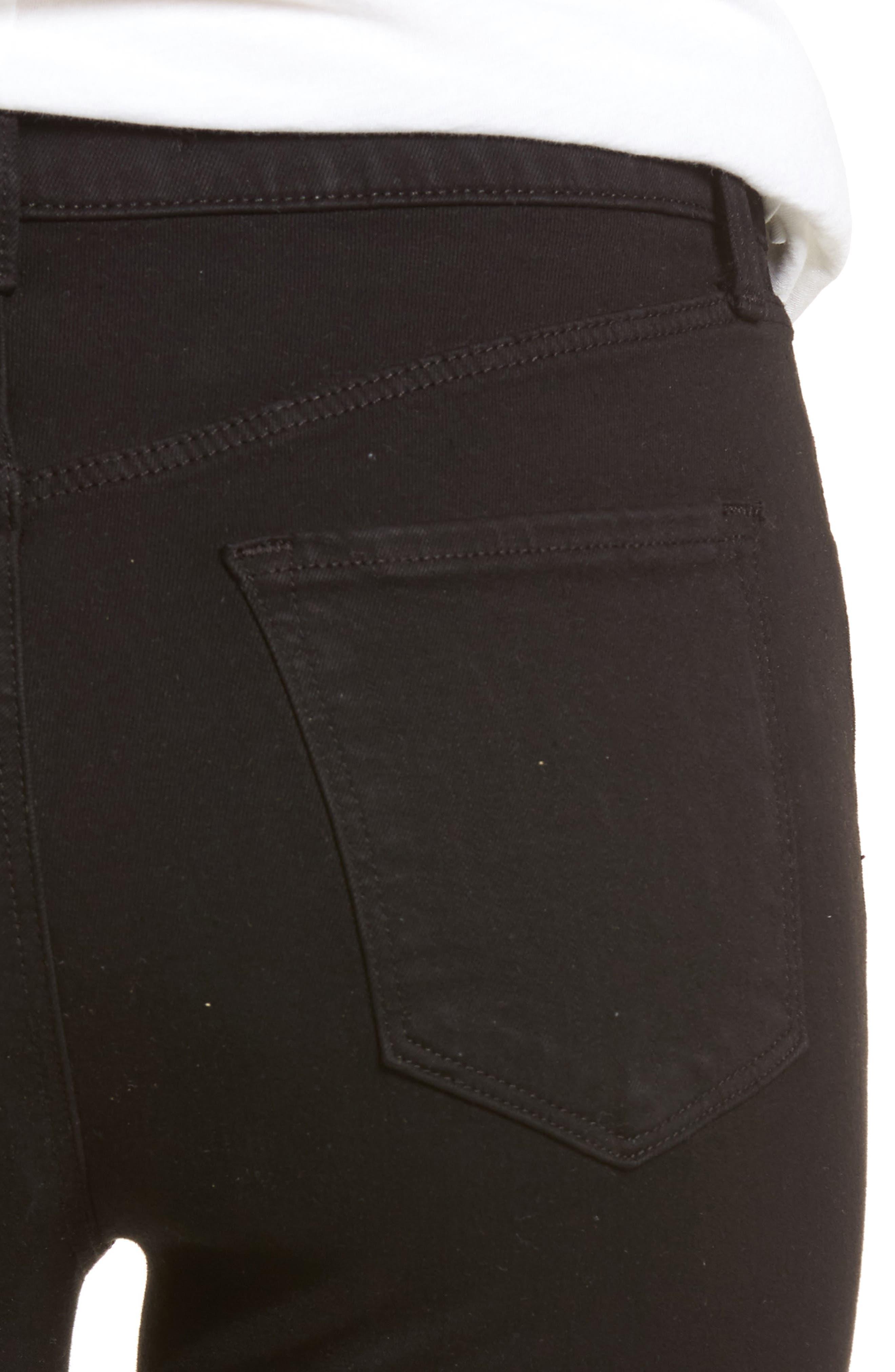 Maria High Waist Skinny Jeans,                             Alternate thumbnail 4, color,                             BLACK BASTILLE
