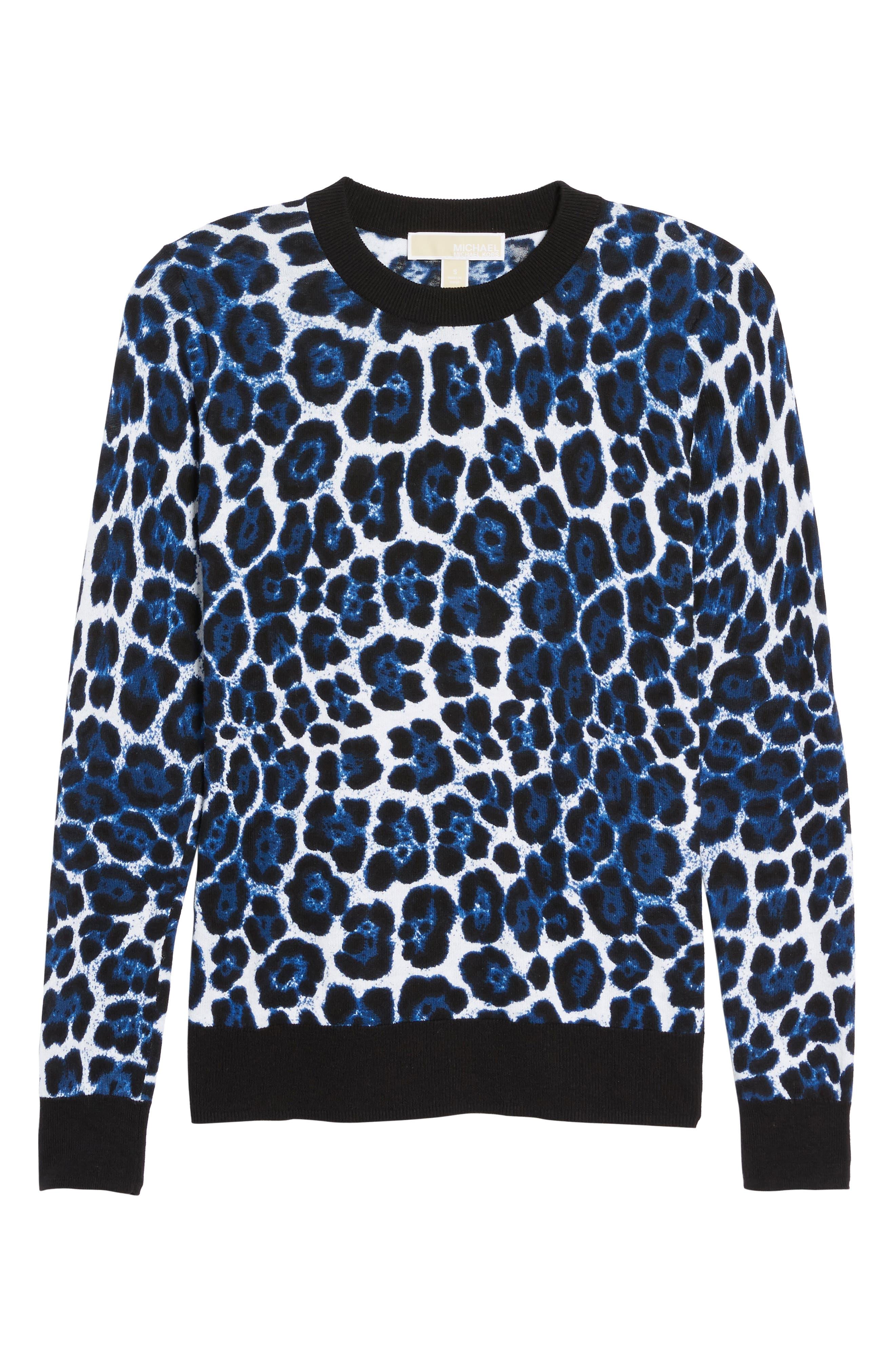 Cheetah Print Sweater,                             Alternate thumbnail 6, color,                             403