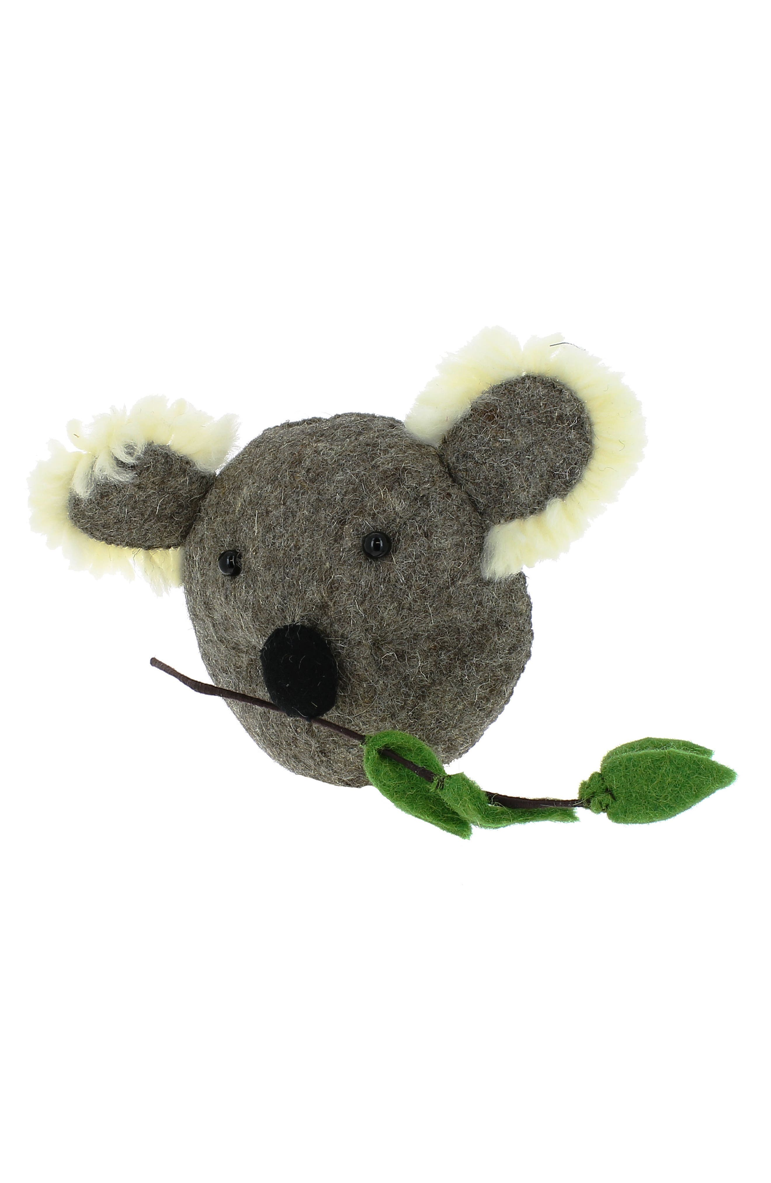 Mini Koala Head Wall Art,                             Alternate thumbnail 2, color,                             GREY