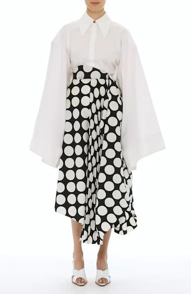 Giant Polka Dot Pleated Skirt, video thumbnail