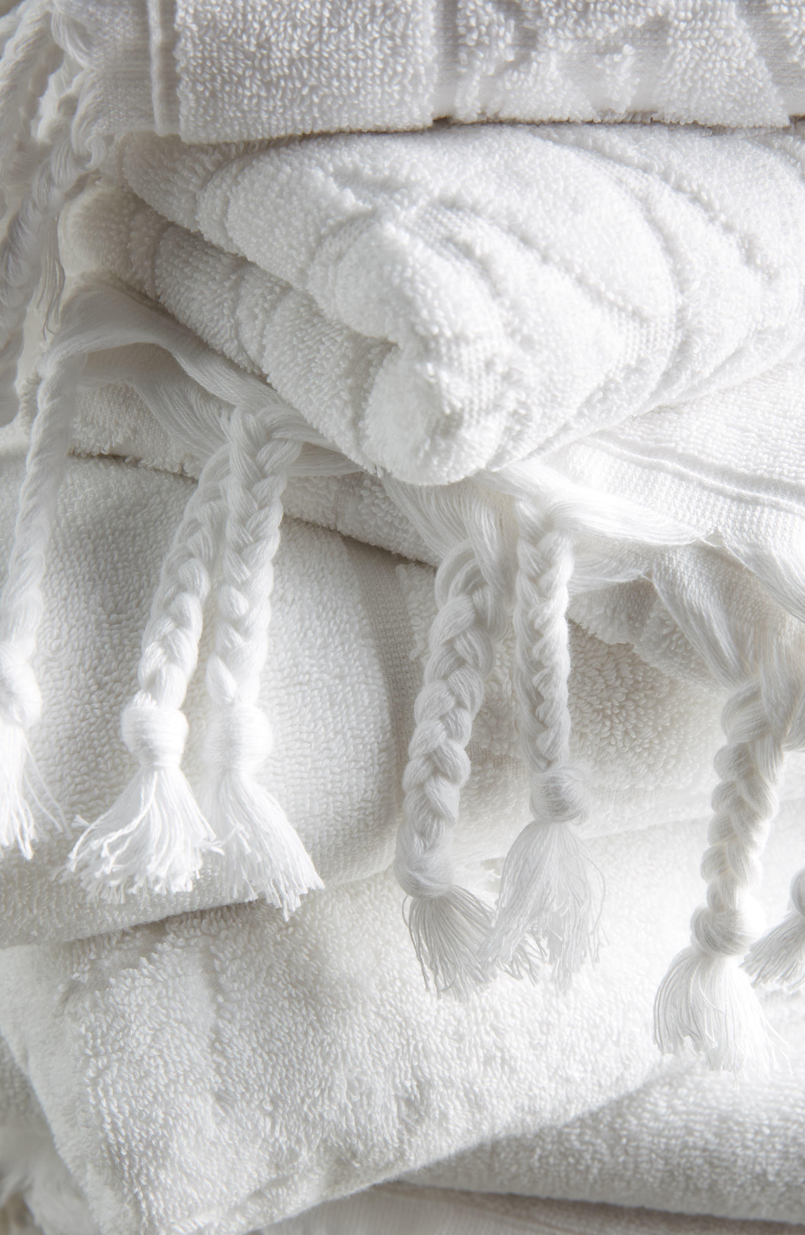 Brewer Bath Towel,                             Alternate thumbnail 3, color,                             WHITE