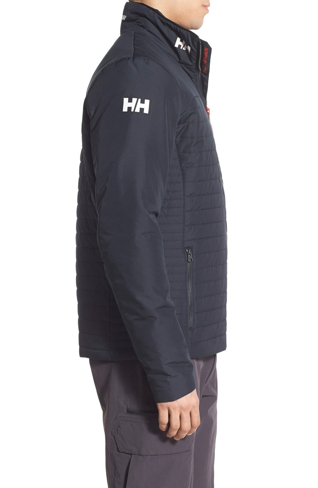 'Crew' Water & Wind Resistant Primaloft<sup>®</sup> Jacket,                             Alternate thumbnail 4, color,                             NAVY