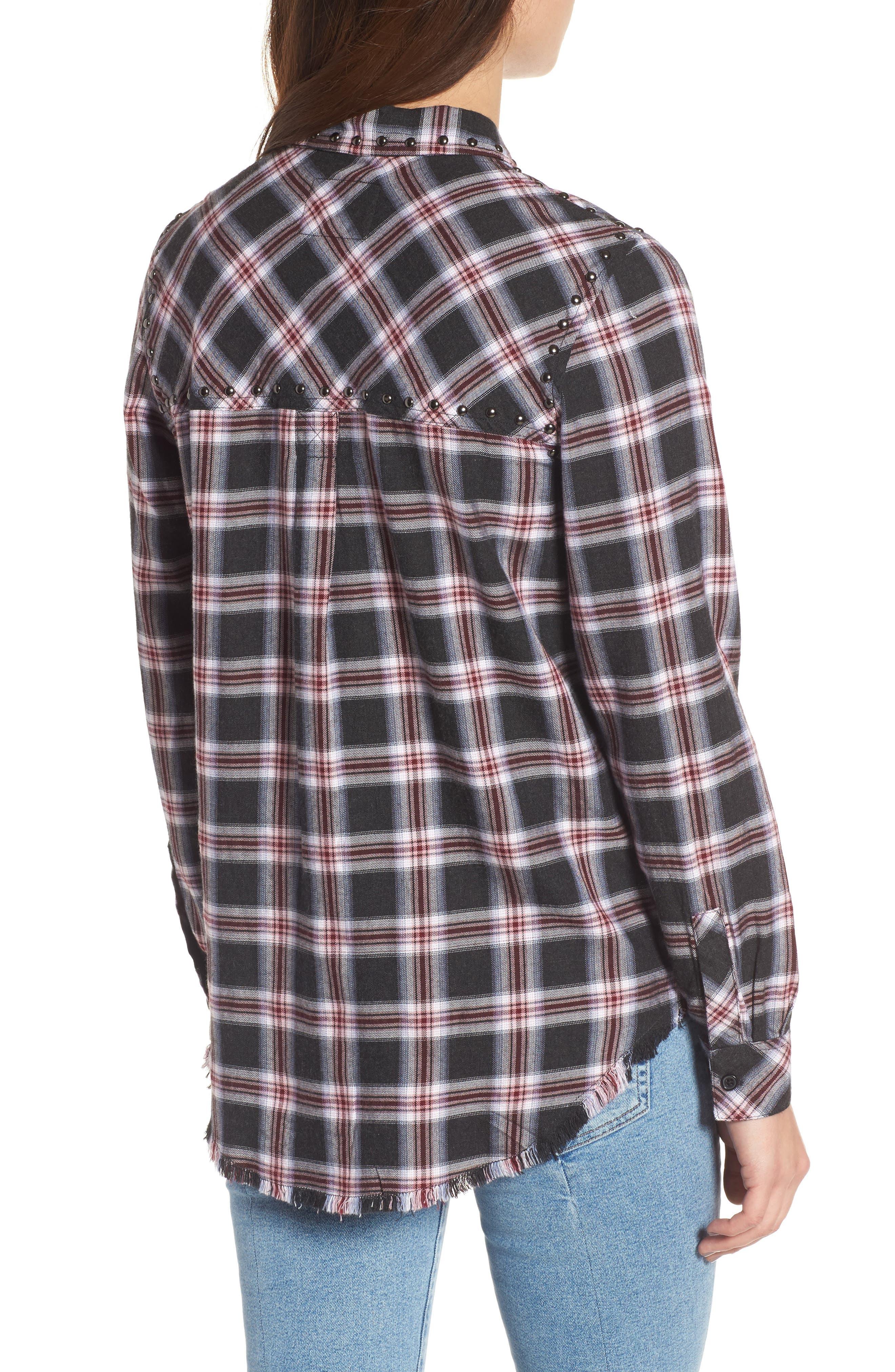 Rex Studded Plaid Shirt,                             Alternate thumbnail 2, color,                             006