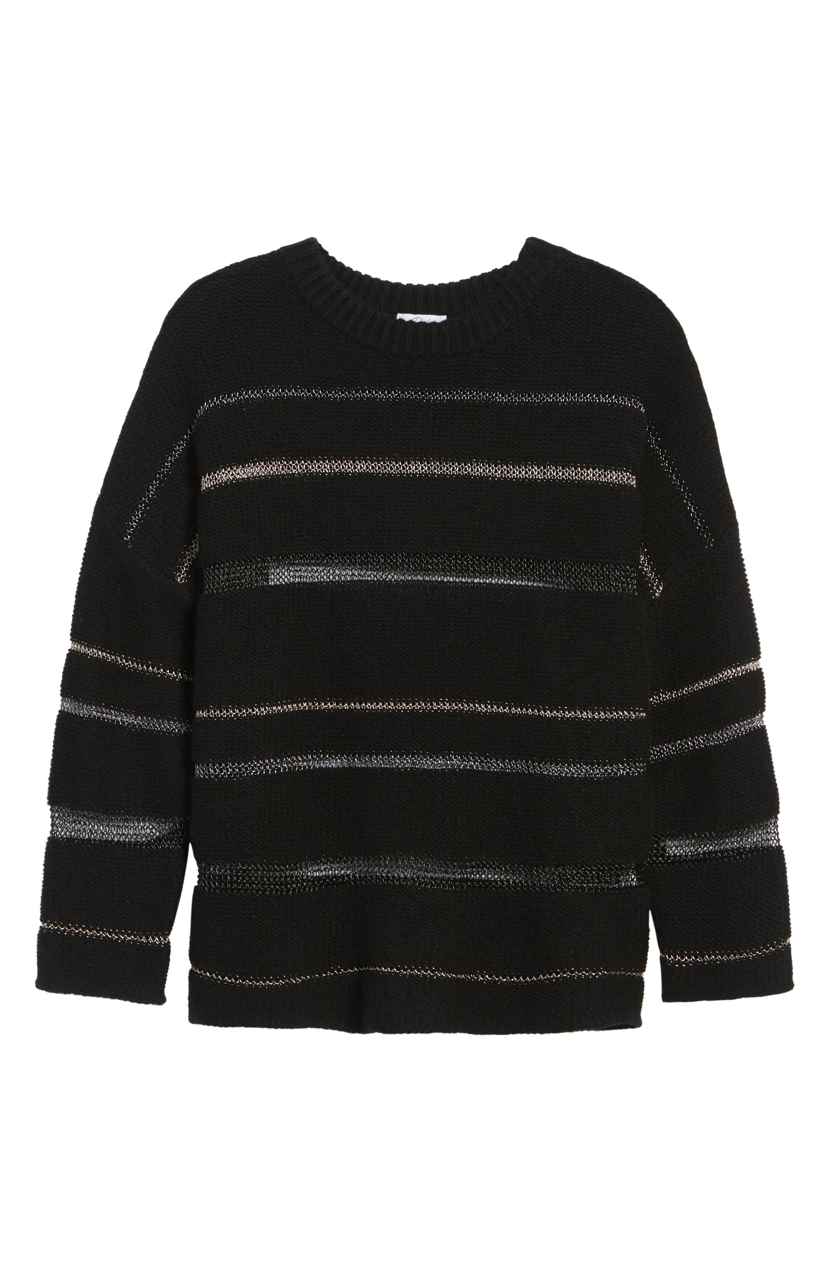 Daphne Stripe Sweater,                             Alternate thumbnail 6, color,                             005