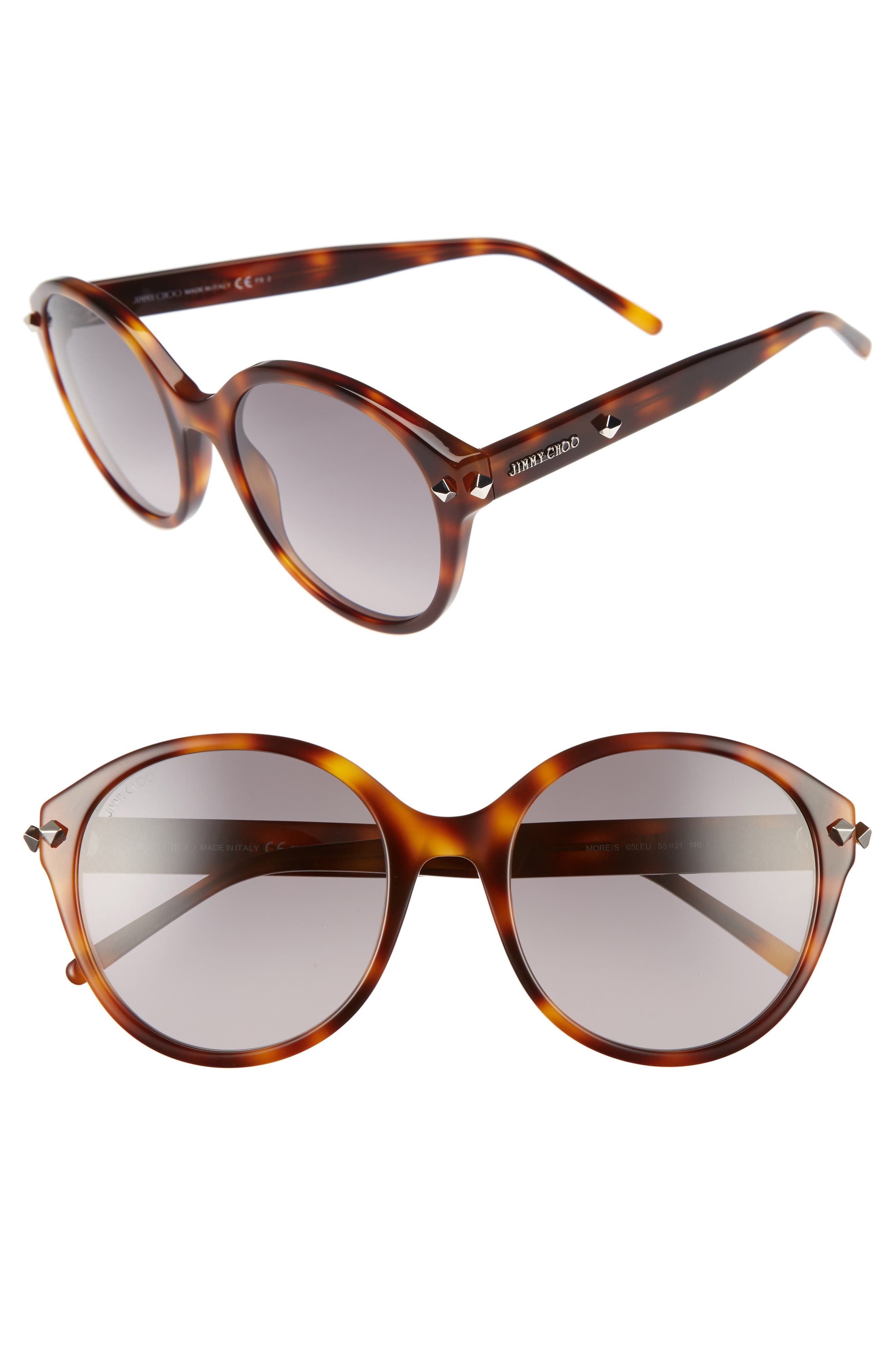 55mm Oversized Sunglasses,                             Main thumbnail 2, color,