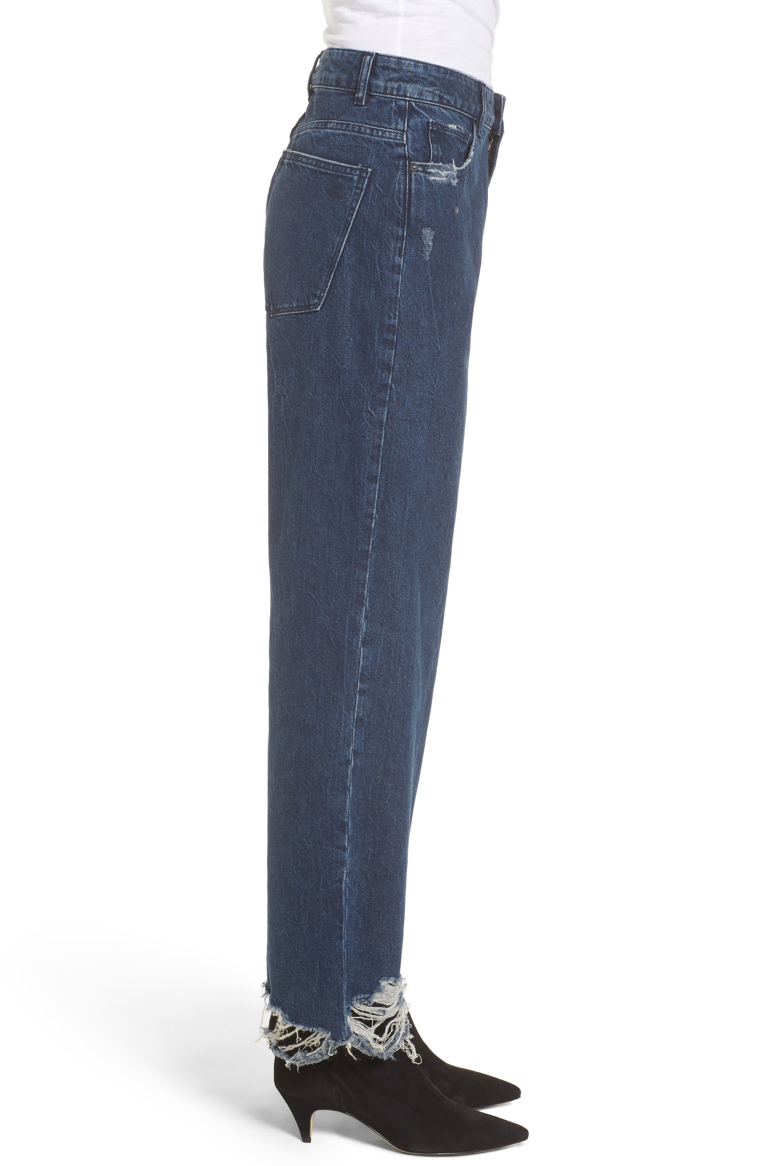 Hepburn High Waist Wide Leg Jeans,                             Alternate thumbnail 3, color,