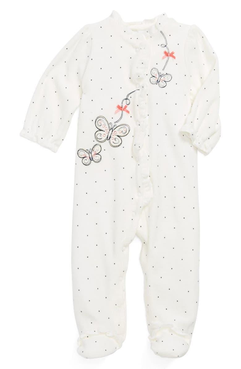 5d65404aa3b0 Little Me  Butterfly Dot  Velour One-Piece (Baby Girls)
