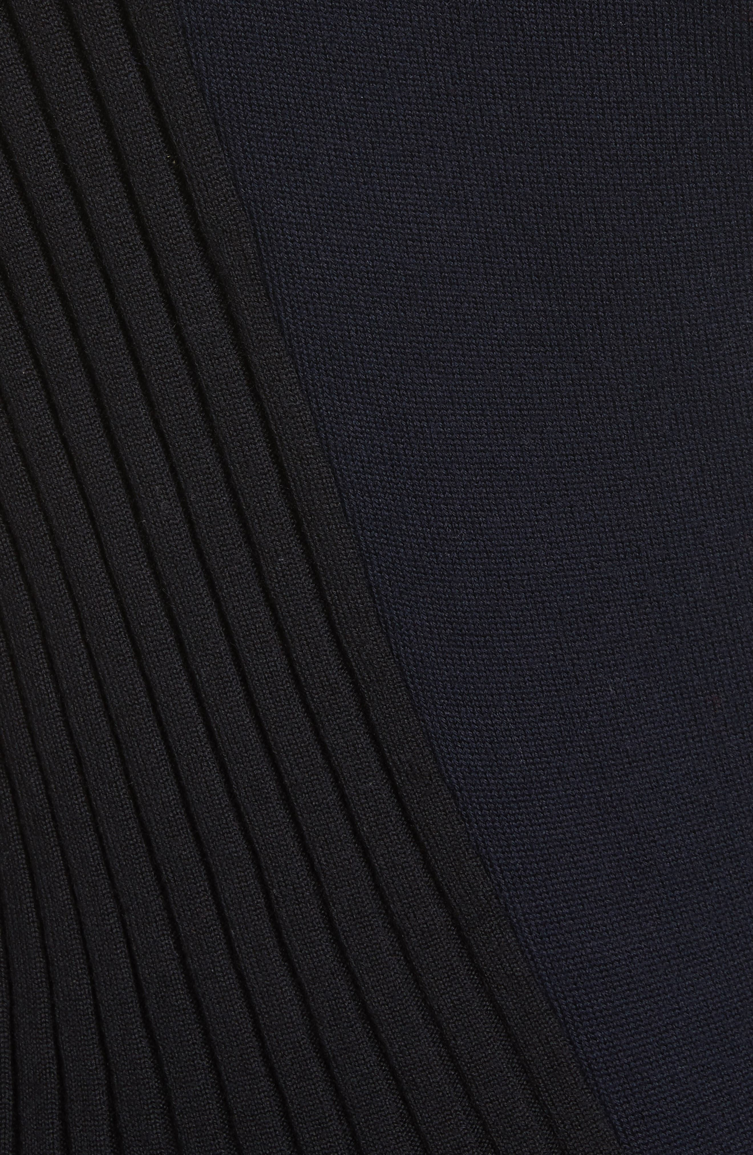 Asymmetrical Button Front Turtleneck Sweater,                             Alternate thumbnail 5, color,                             400