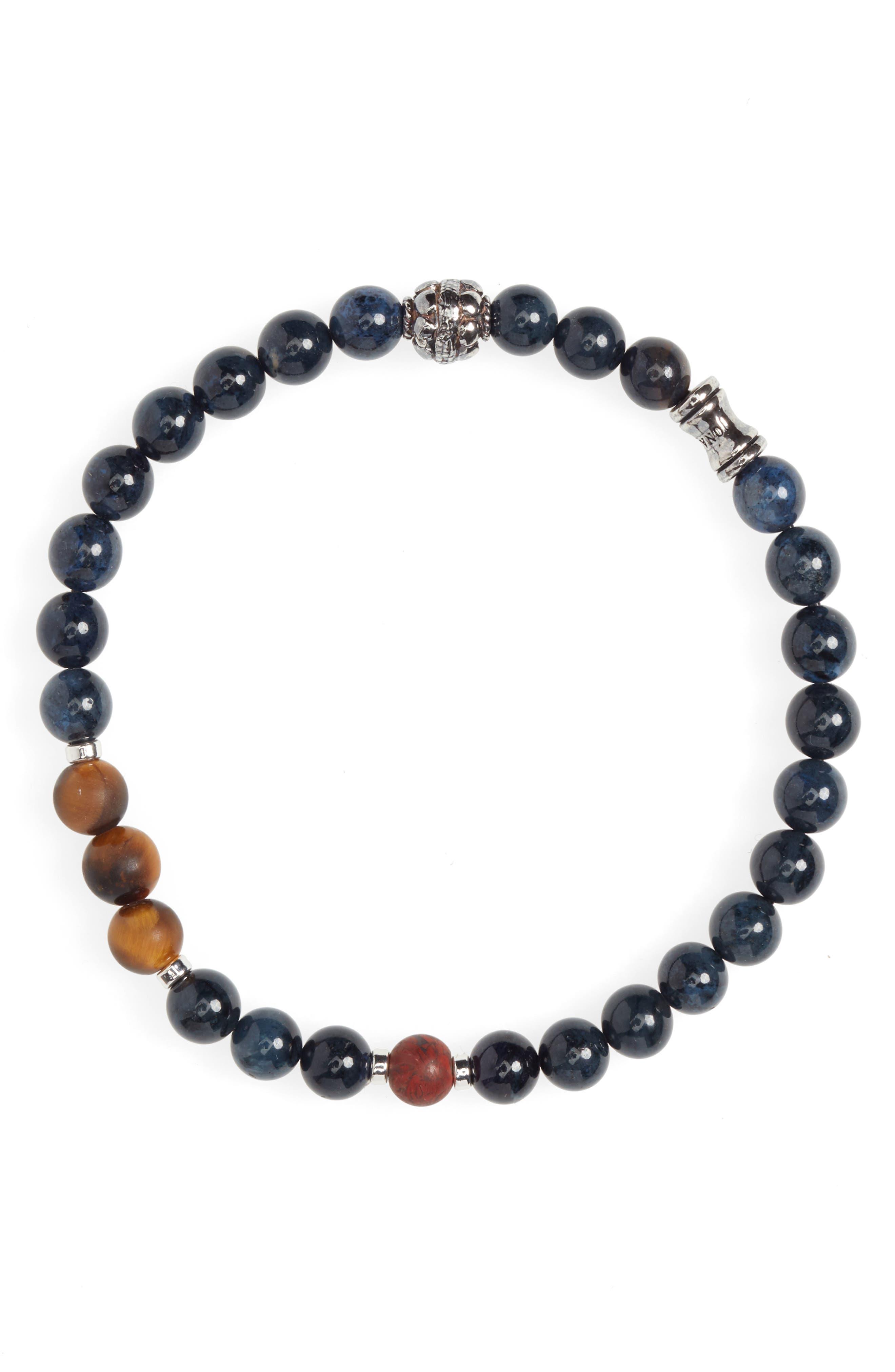 JONAS STUDIO Dakota Tritone Stone Stretch Bracelet in Blue