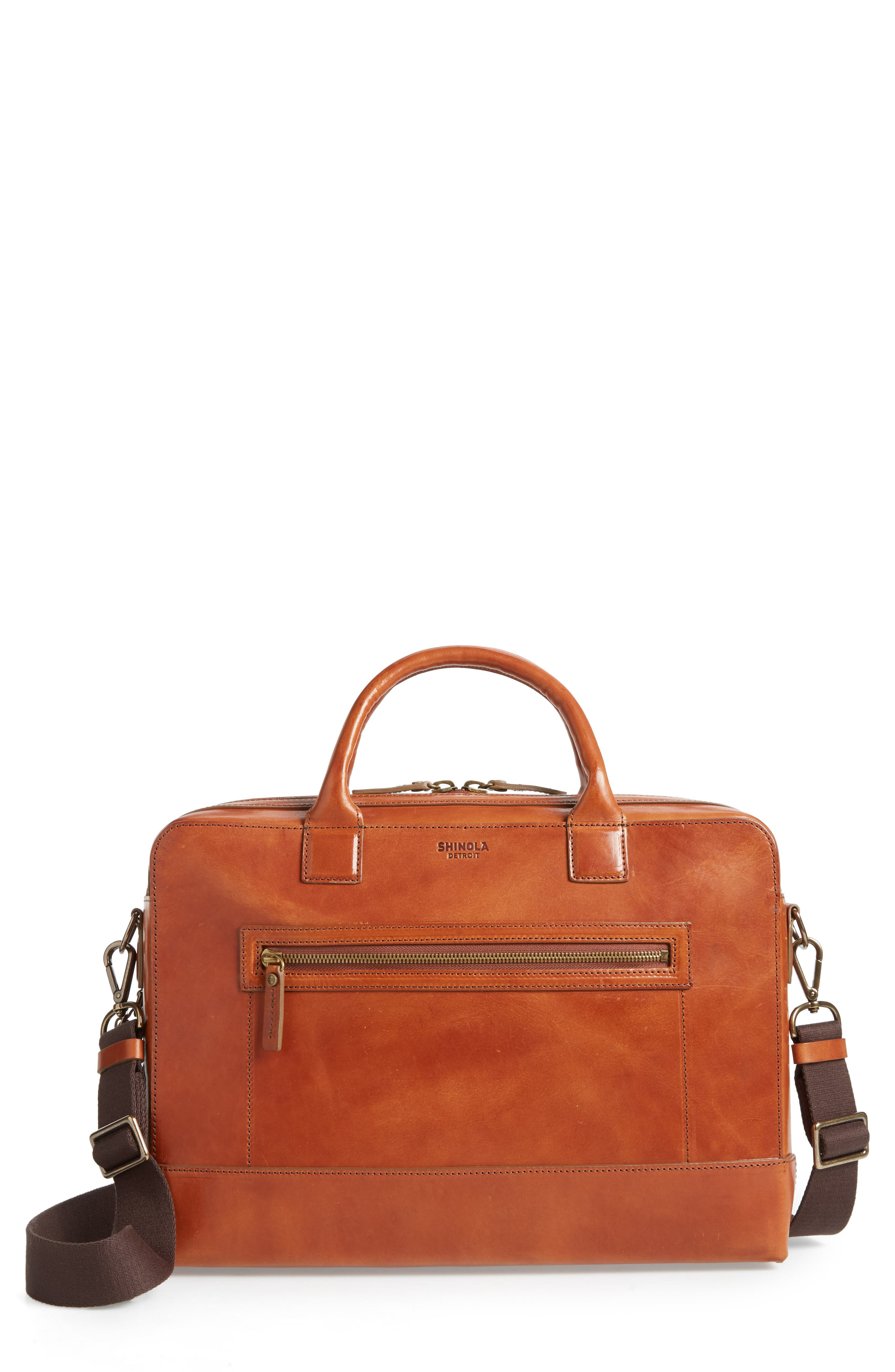 Harness Bedrock Leather Briefcase,                             Main thumbnail 1, color,                             220