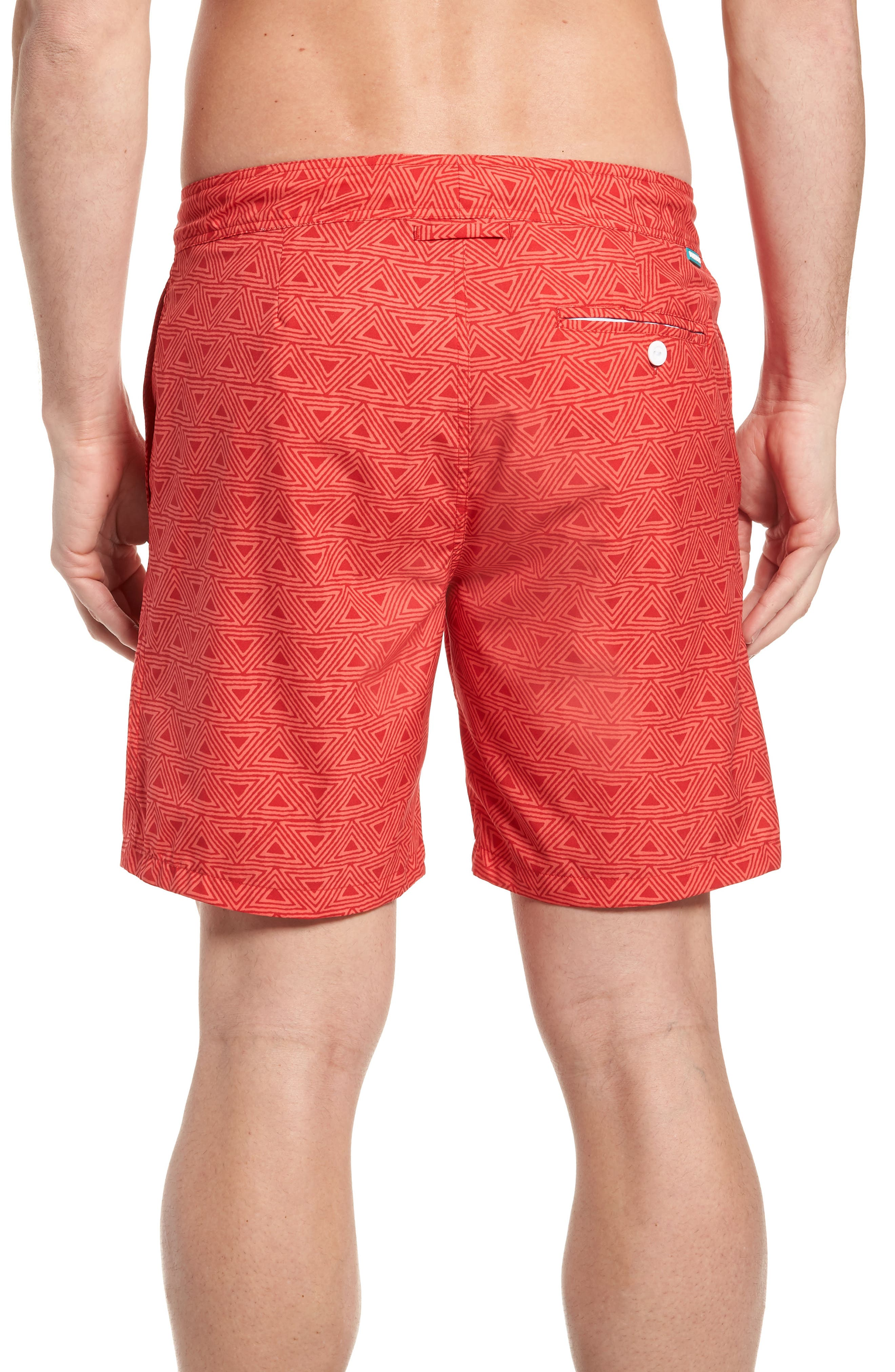Geo Print 7-Inch Swim Trunks,                             Alternate thumbnail 2, color,                             650