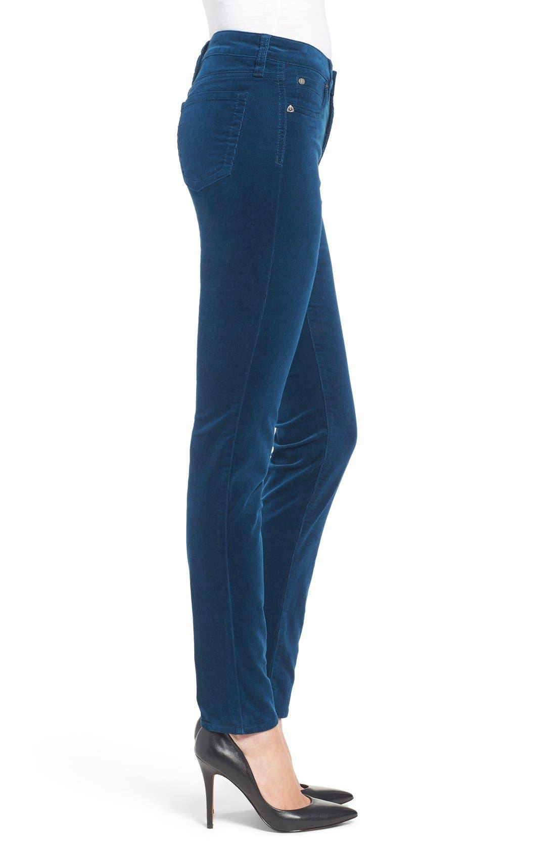 'Diana' Stretch Corduroy Skinny Pants,                             Alternate thumbnail 280, color,