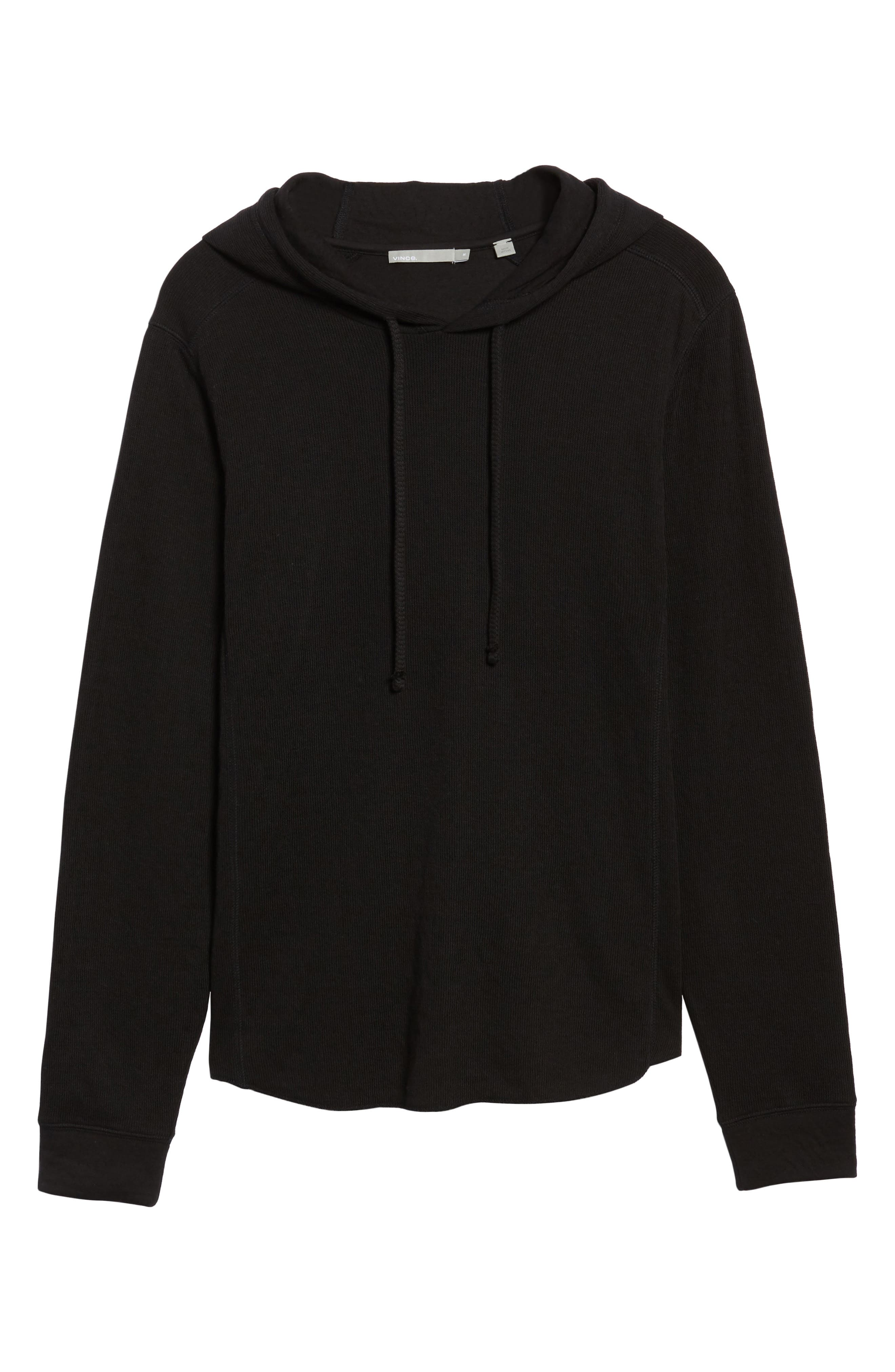 Double Knit Hoodie,                             Alternate thumbnail 6, color,                             001