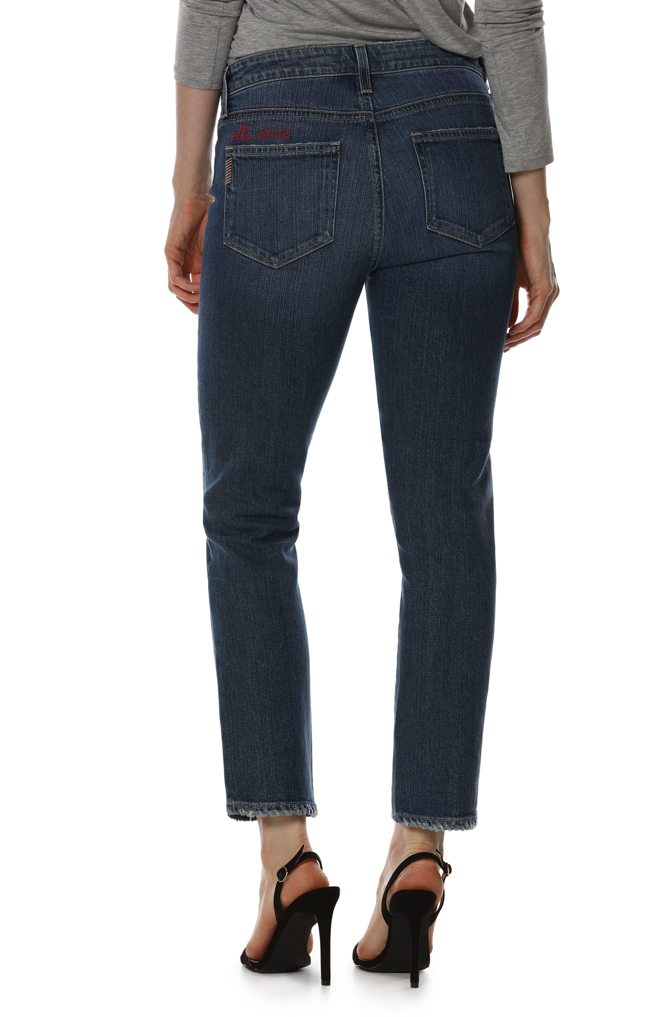 Jacqueline High Waist Ankle Straight Leg Jeans,                             Alternate thumbnail 6, color,
