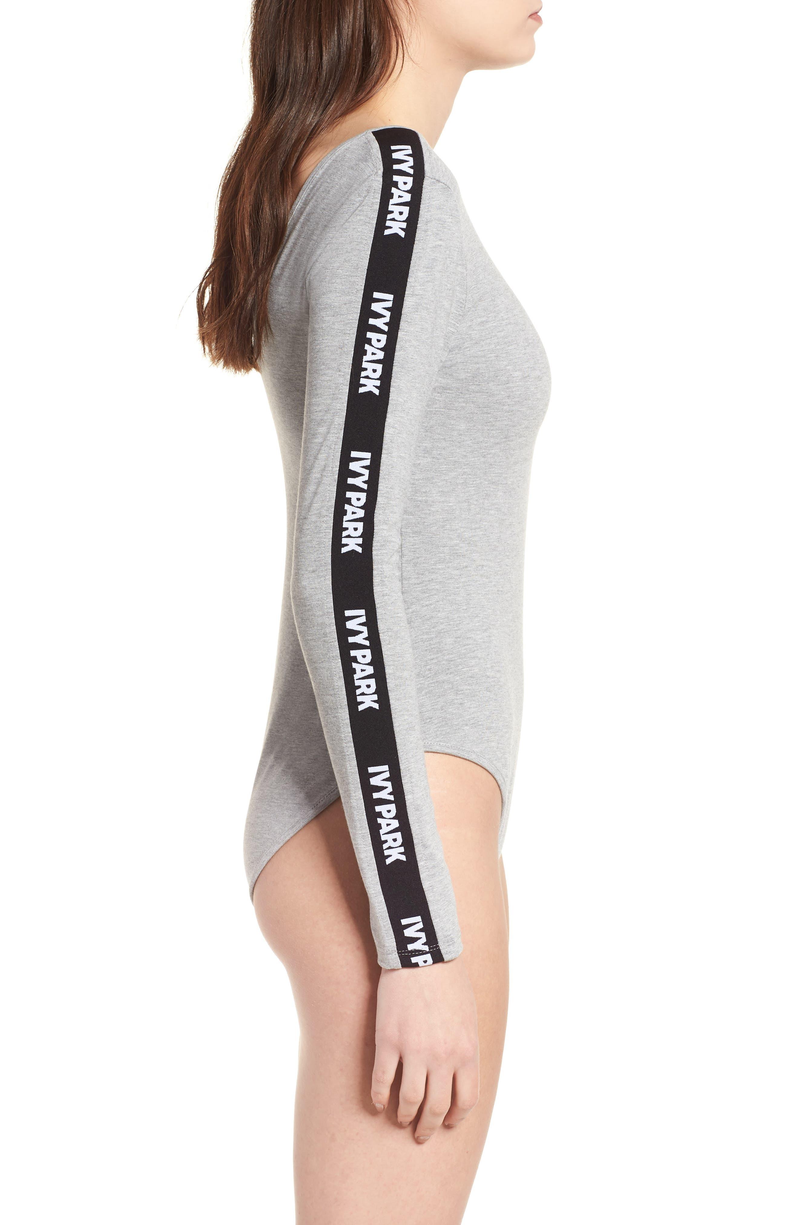 Logo Stripe Sleeve Bodysuit,                             Alternate thumbnail 15, color,