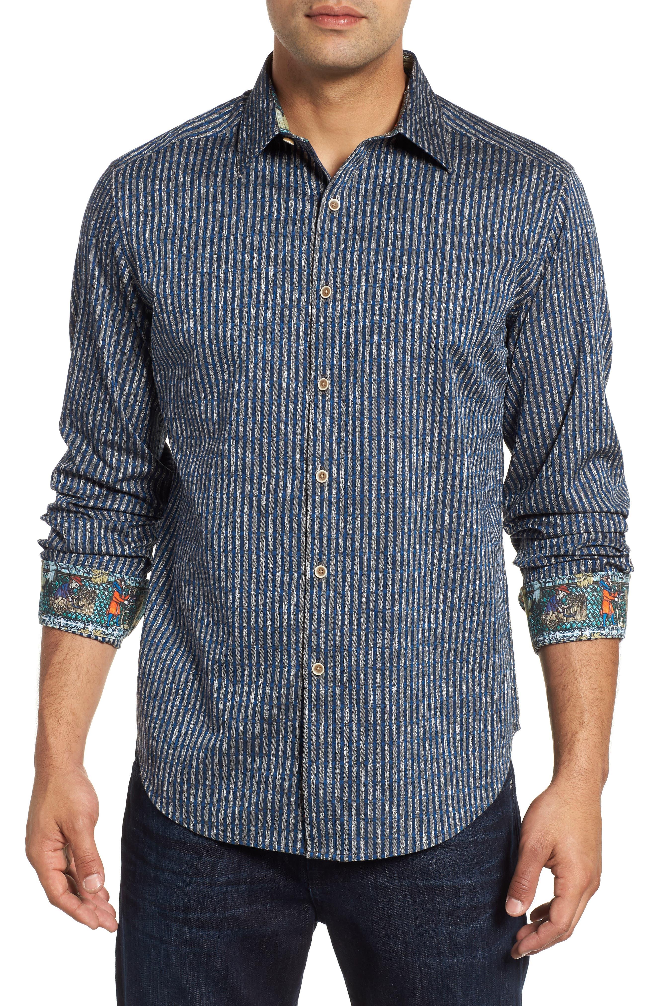 Ellis Classic Fit Sport Shirt,                         Main,                         color, NAVY