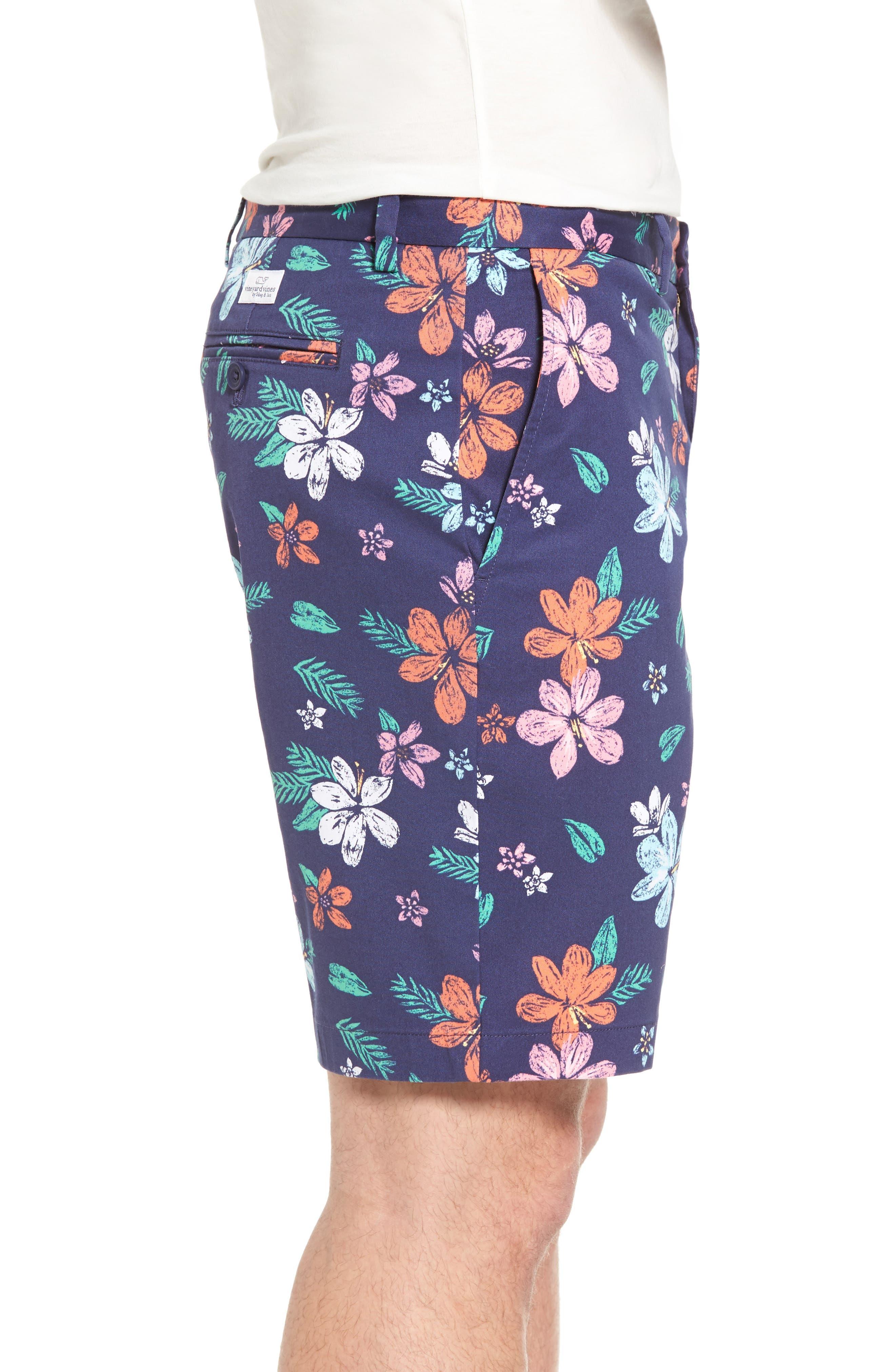 Floral Print Breaker Shorts,                             Alternate thumbnail 3, color,                             400
