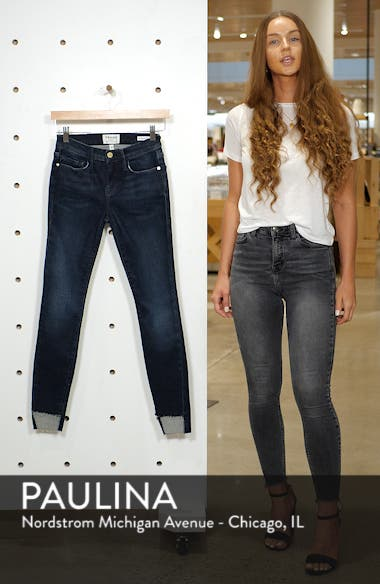 Le Skinny Raw Step Hem Jeans, sales video thumbnail