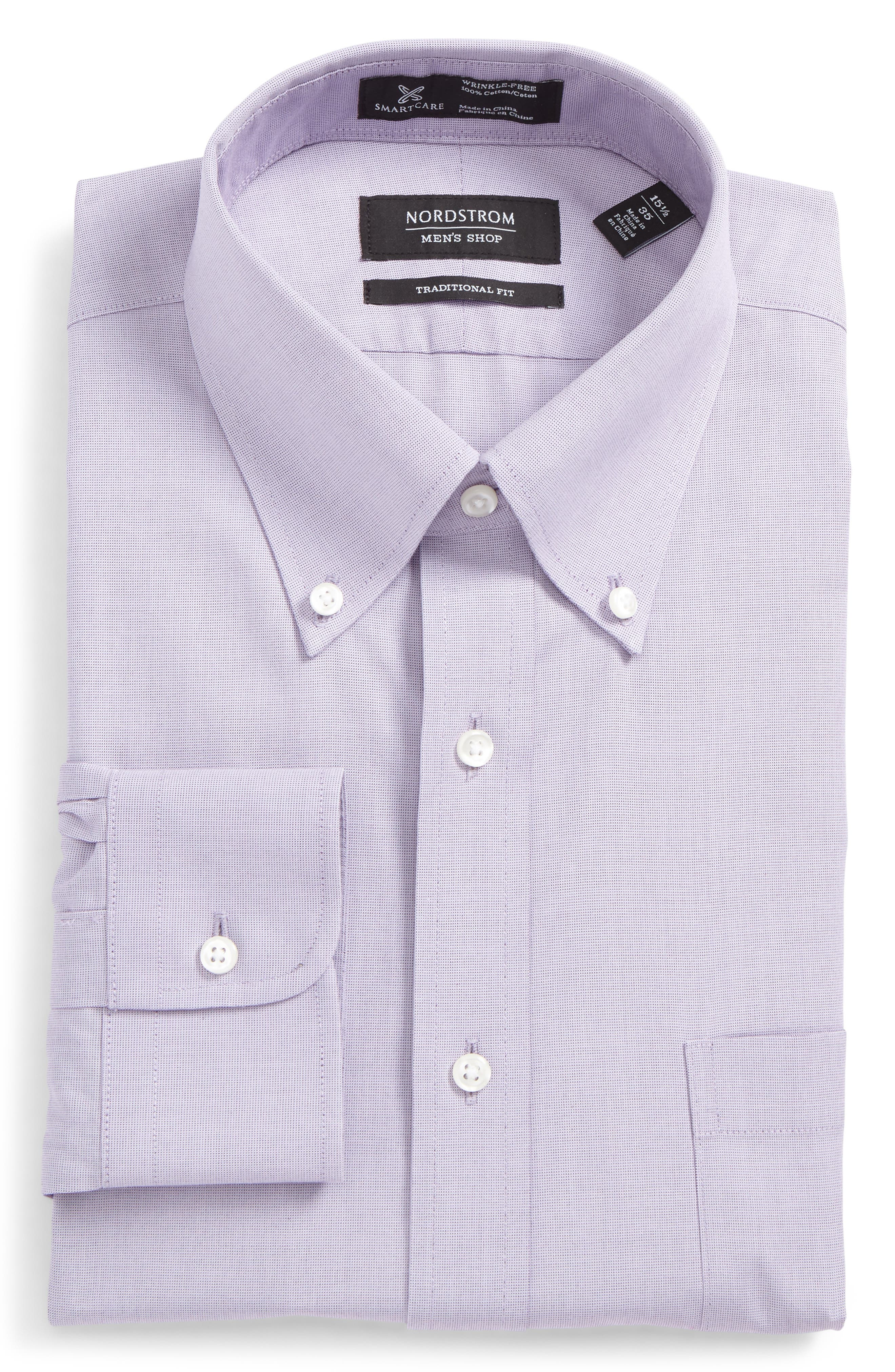 Smartcare<sup>™</sup> Traditional Fit Pinpoint Dress Shirt,                             Main thumbnail 46, color,