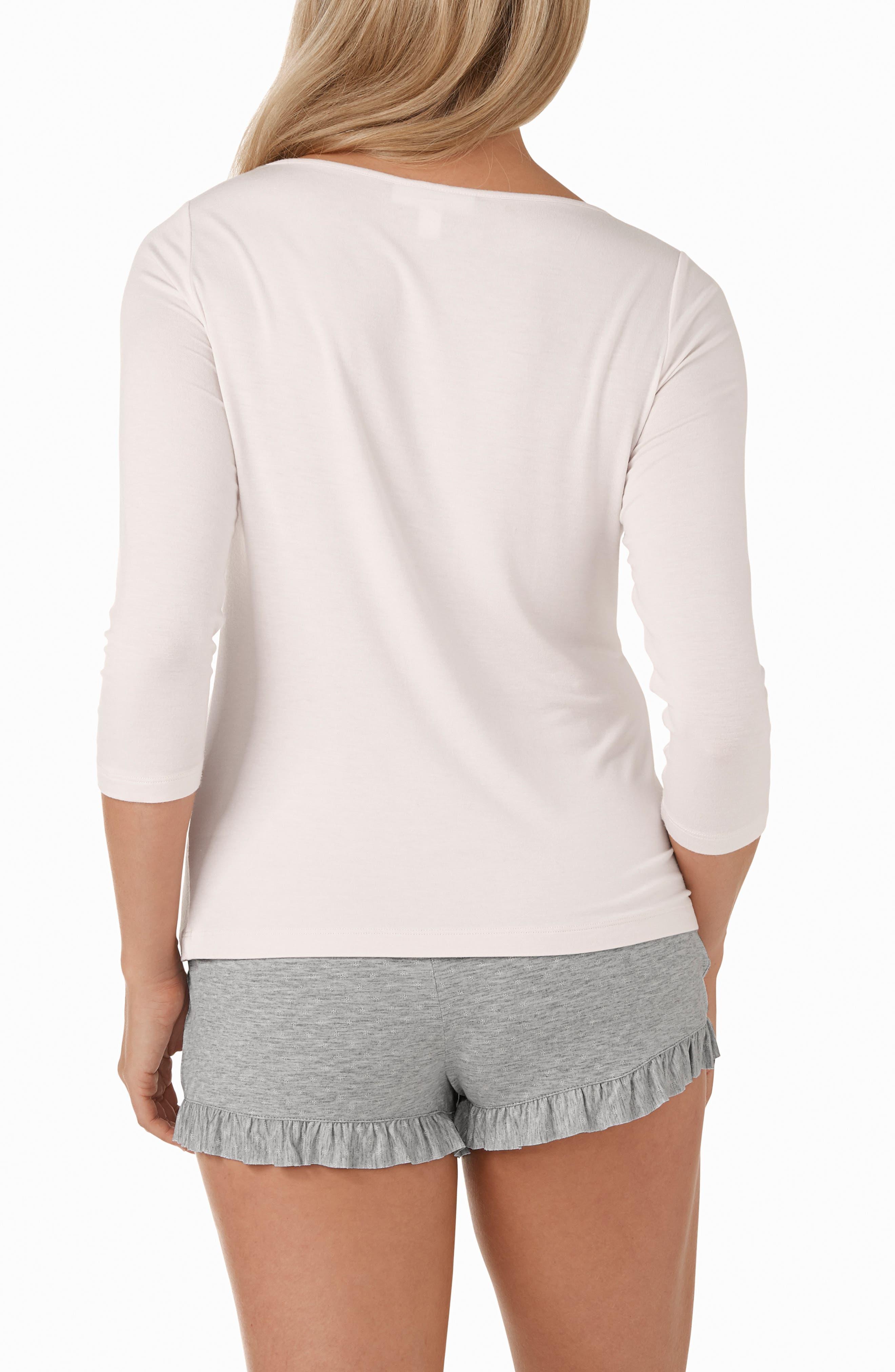 Foulard Star Two Piece Pajamas,                             Alternate thumbnail 2, color,                             PINK/ GREY / WHITE
