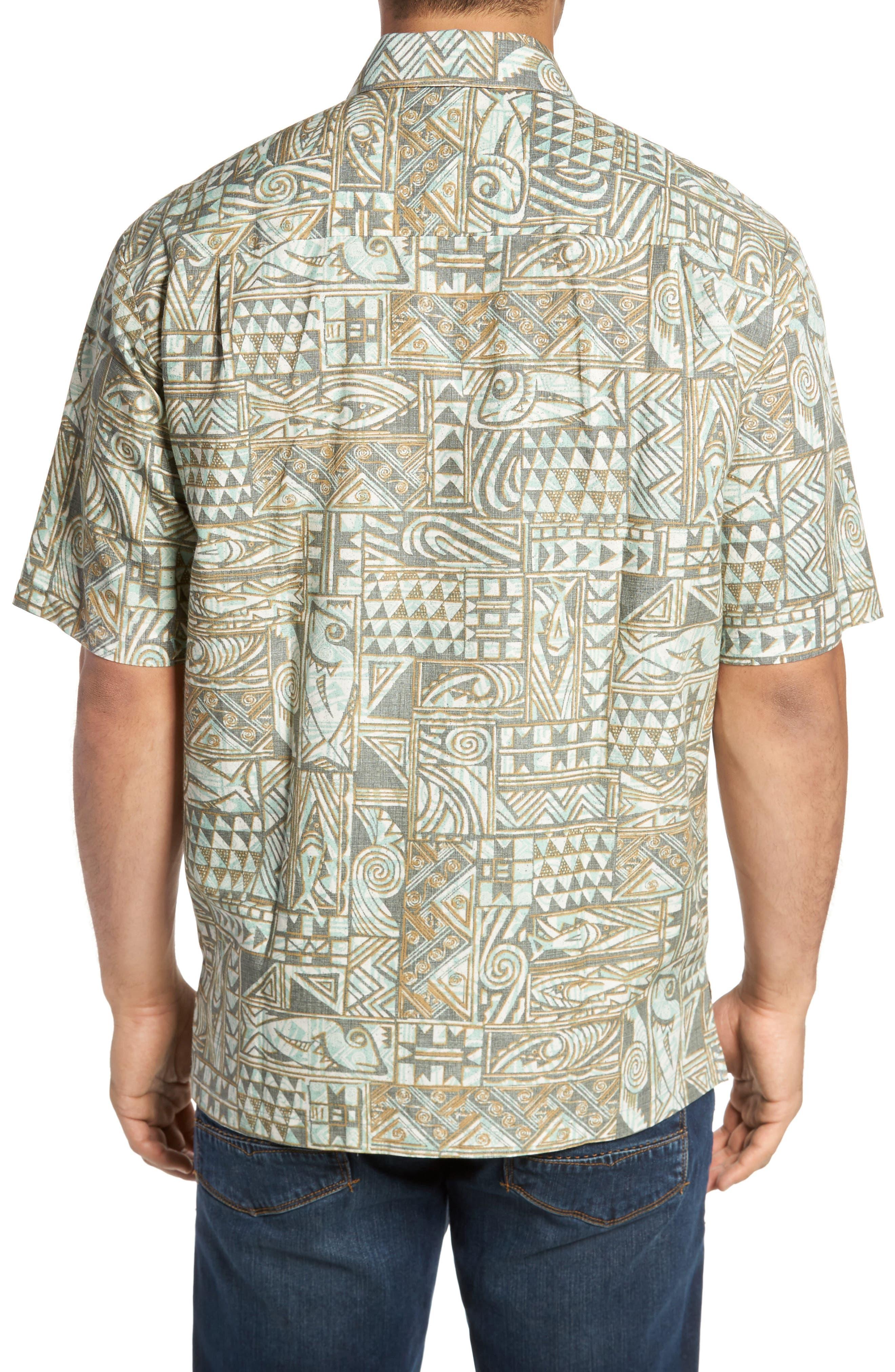 Ehukai Classic Fit Print Sport Shirt,                             Alternate thumbnail 3, color,