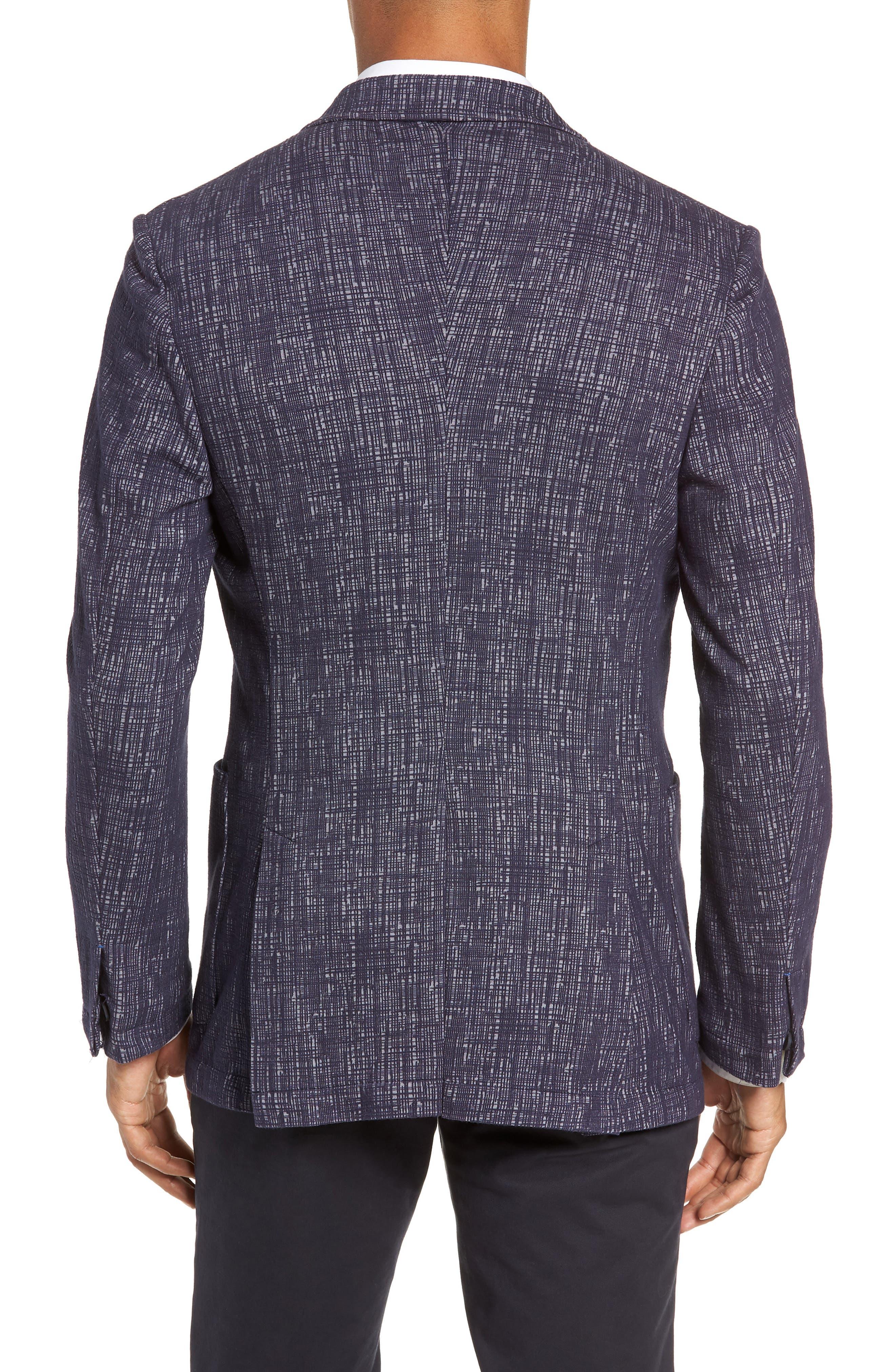 VINCE CAMUTO,                             Mesh Pattern Slim Fit Sport Coat,                             Alternate thumbnail 2, color,                             BLUE