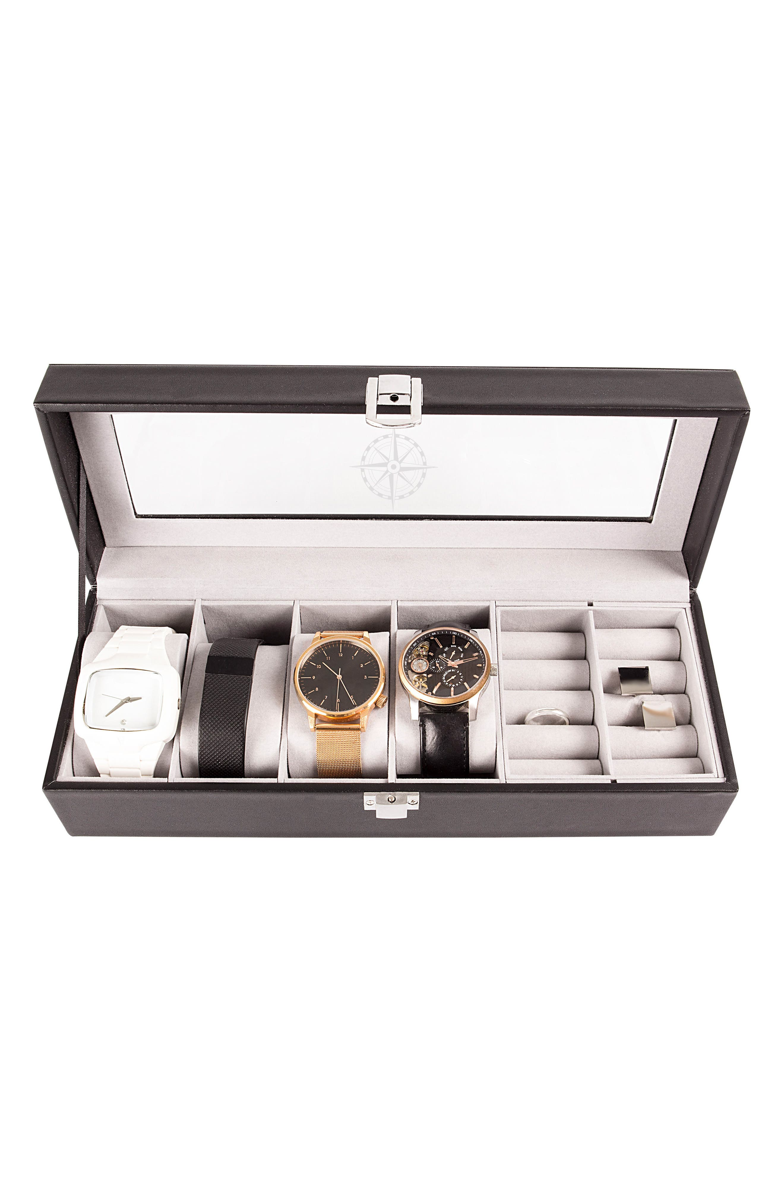 Compass Watch & Jewelry Case,                             Alternate thumbnail 5, color,                             001