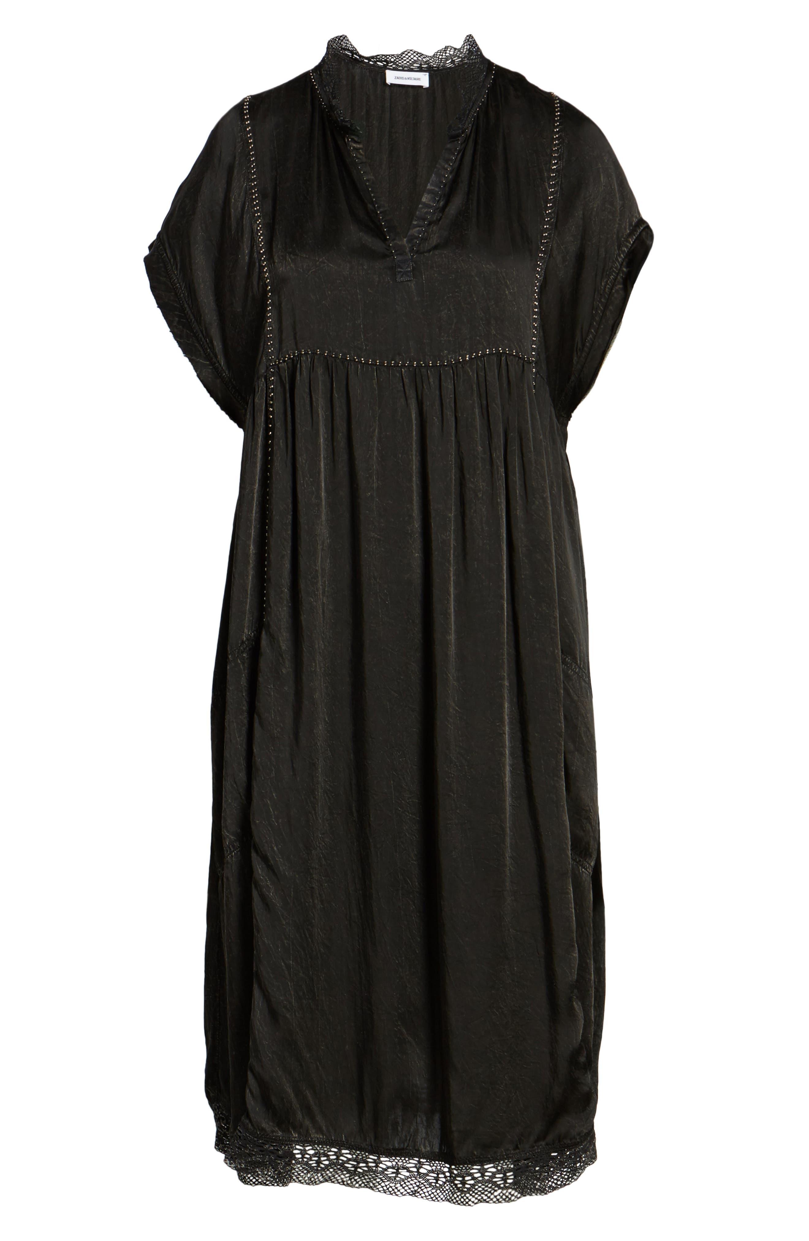 Rastana Babydoll Dress,                             Alternate thumbnail 6, color,                             001