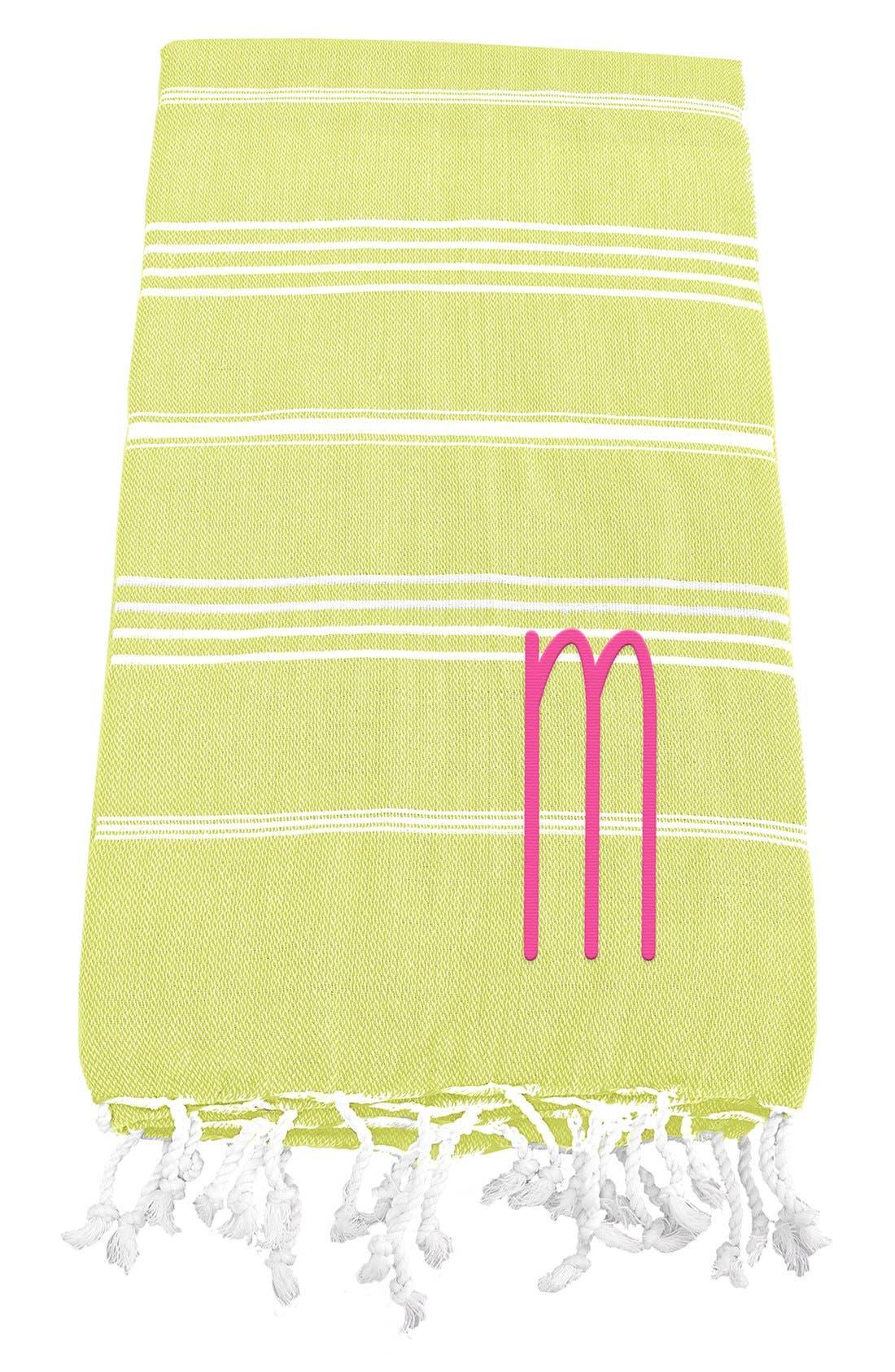 Monogram Turkish Cotton Towel,                             Main thumbnail 42, color,