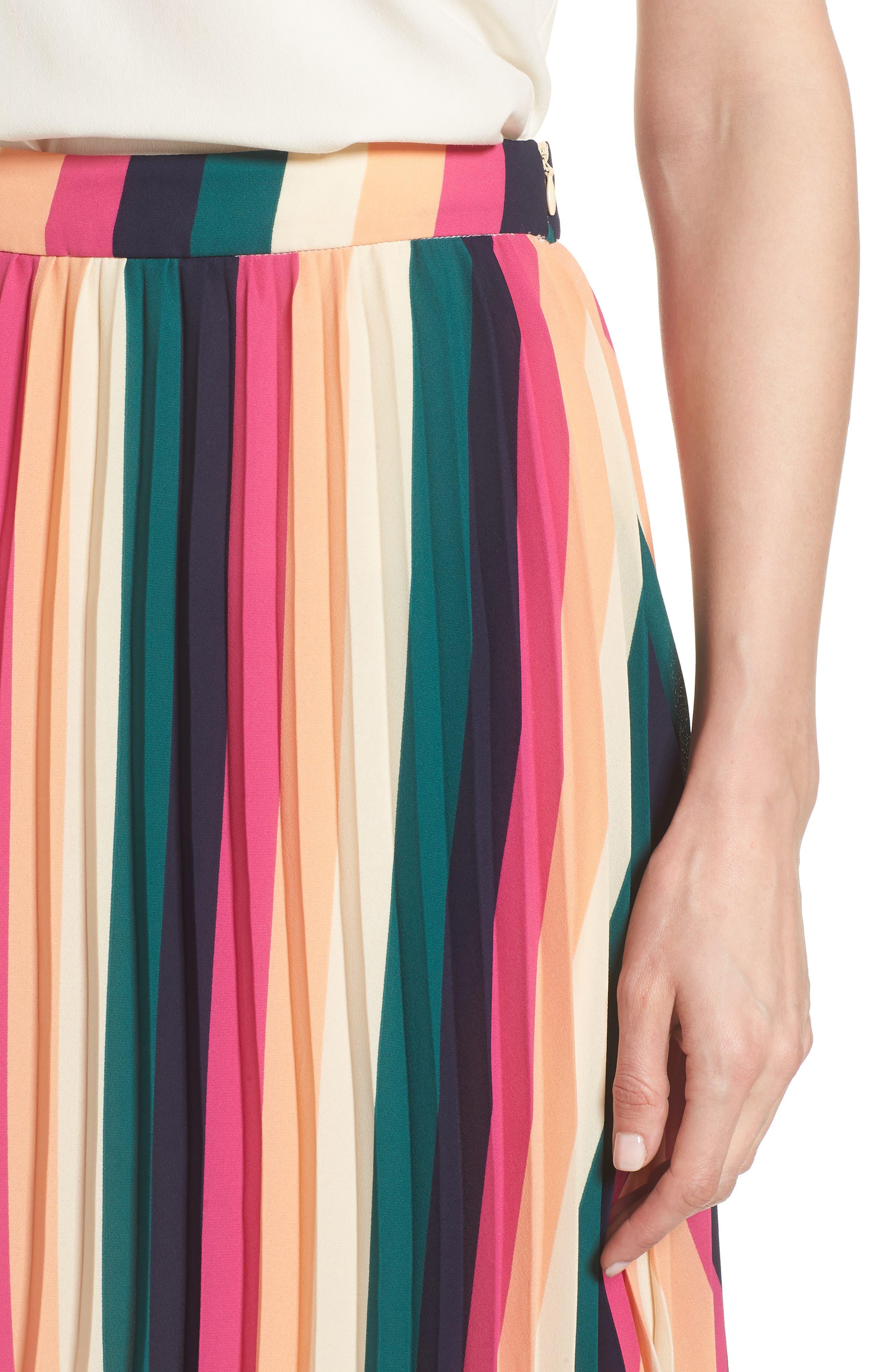 x Hi Sugarplum! Navio Pleat Skirt,                             Alternate thumbnail 4, color,                             007