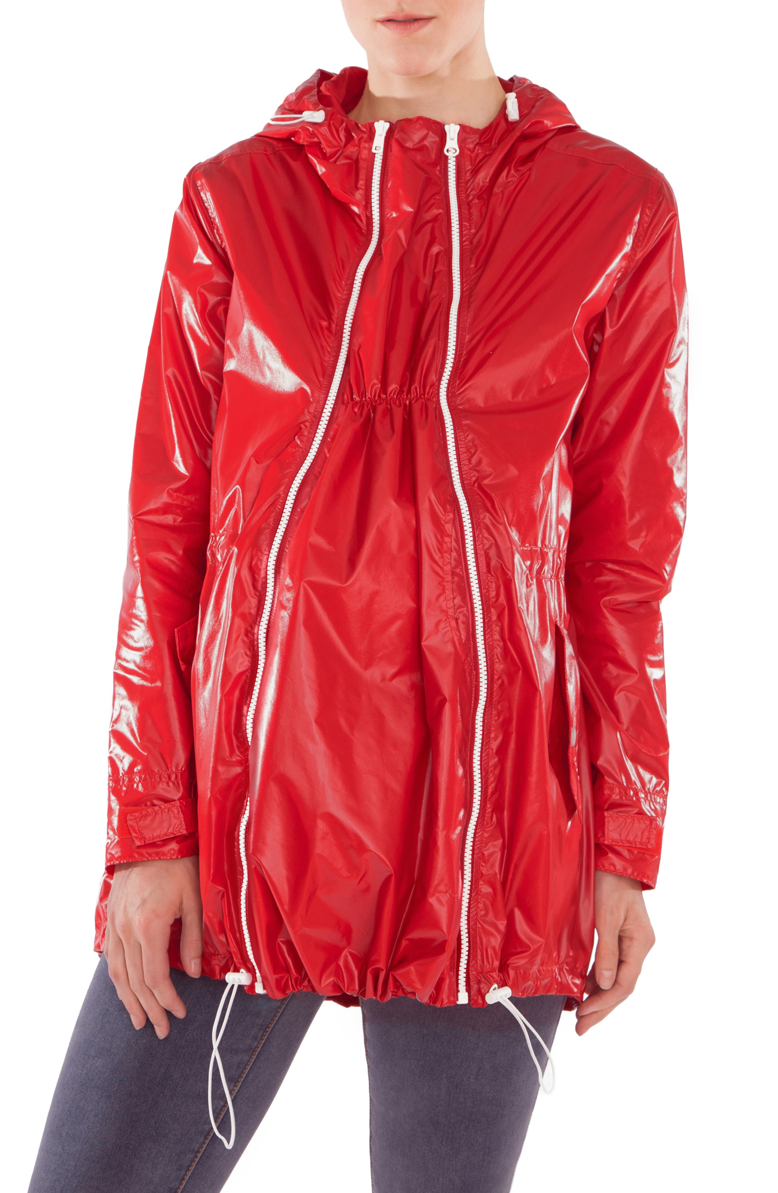 Waterproof Convertible 3-in-1 Maternity Raincoat,                             Alternate thumbnail 2, color,                             BRIGHT NAVY