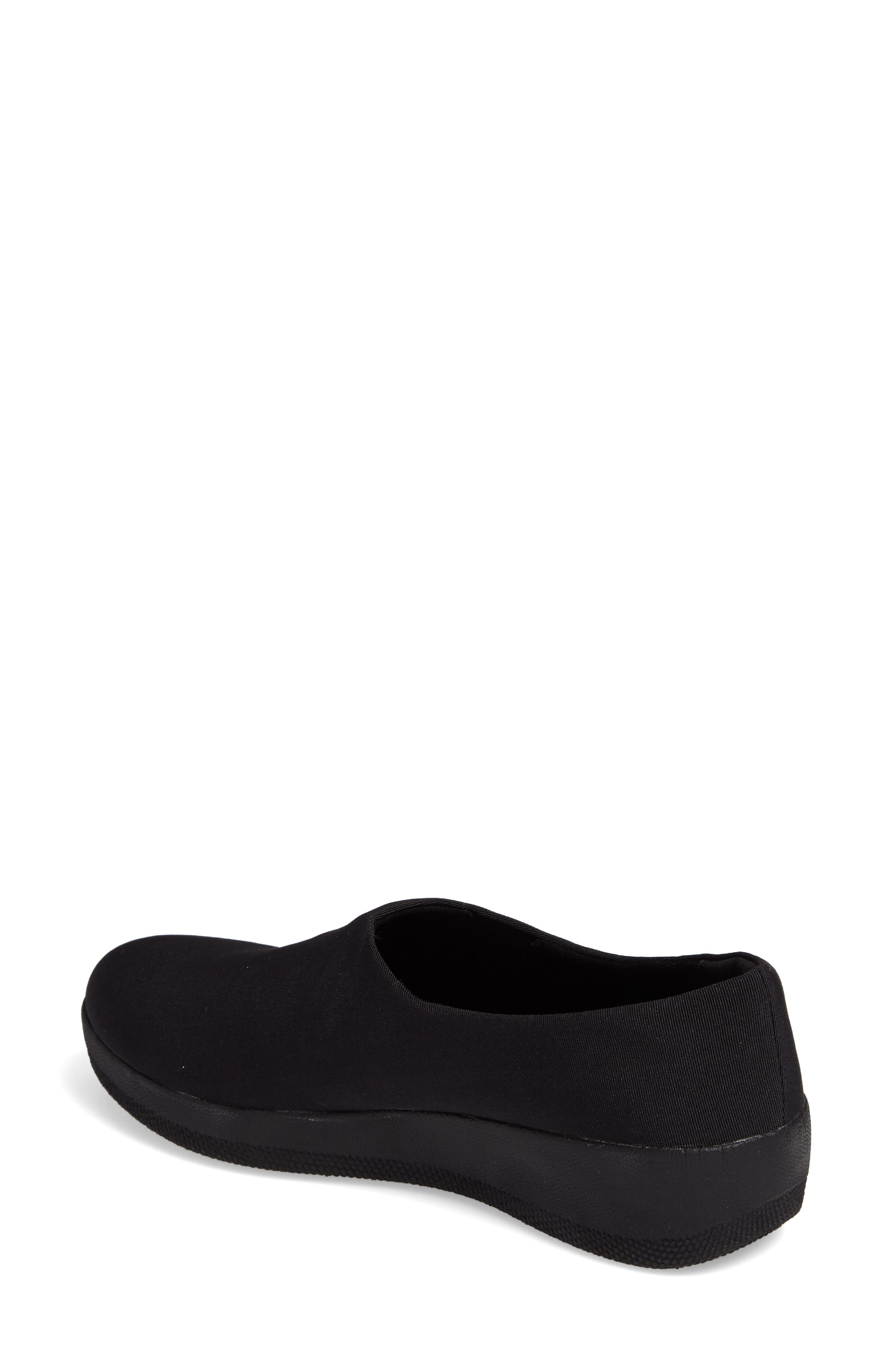 Superstretch Bobby Loafer,                             Alternate thumbnail 2, color,                             ALL BLACK FAUX LEATHER