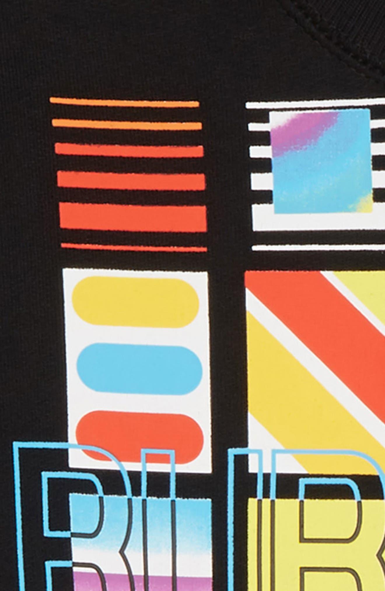 Logo Print Sweatshirt,                             Alternate thumbnail 2, color,                             BLACK