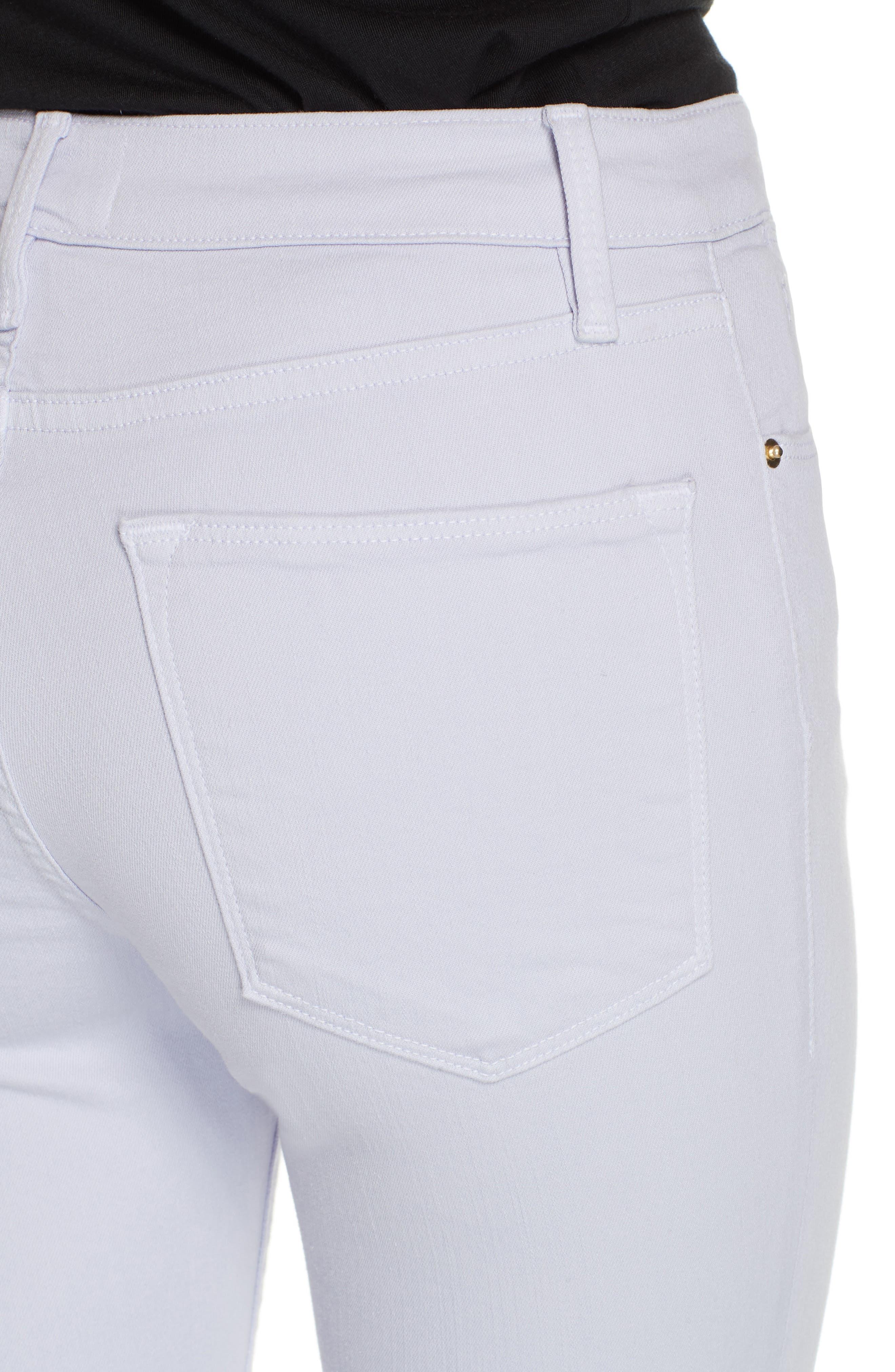 Le High Raw Hem Ankle Skinny Jeans,                             Alternate thumbnail 4, color,                             LAVENDER