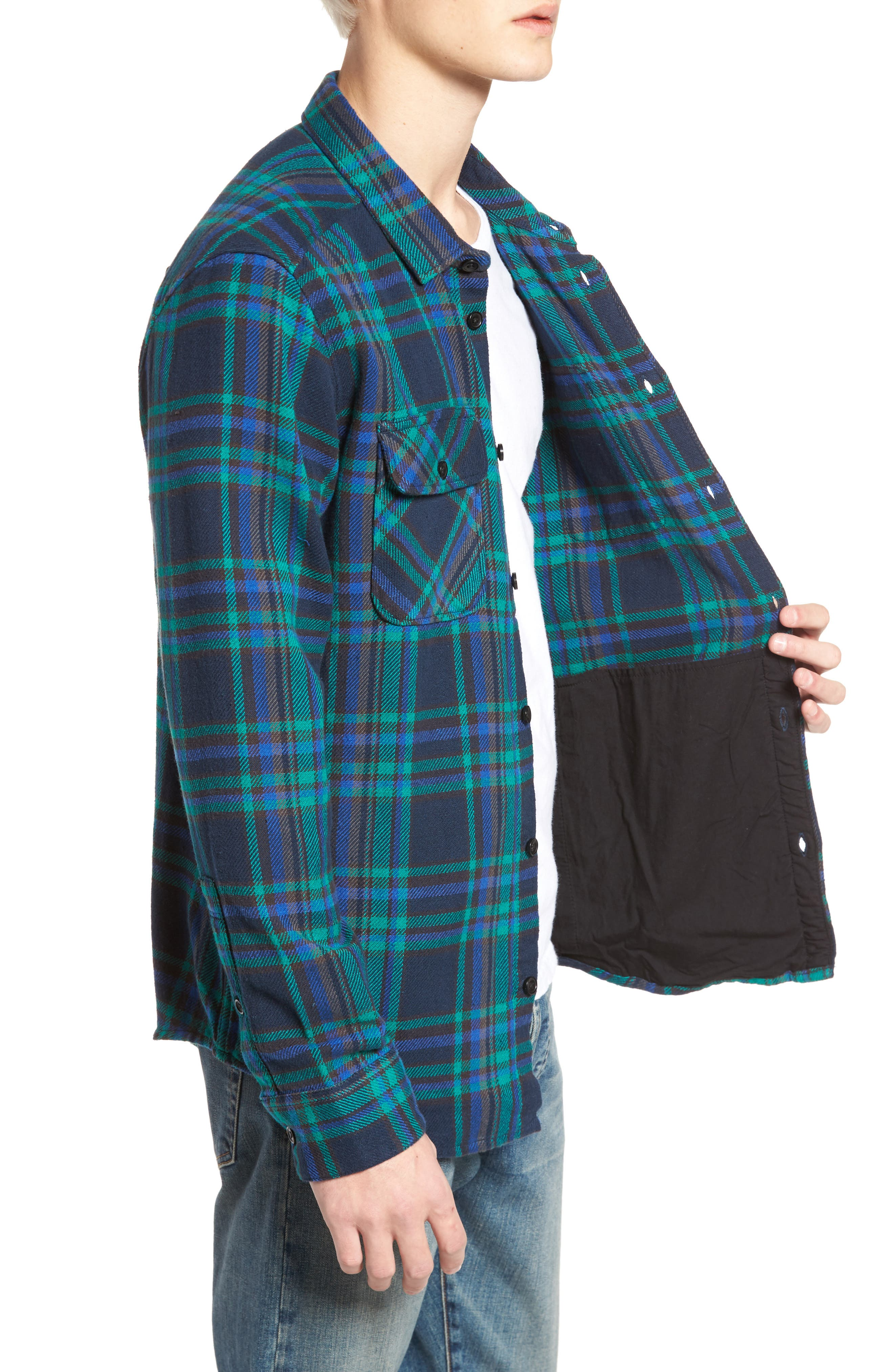 Camino Flannel Shirt,                             Alternate thumbnail 9, color,