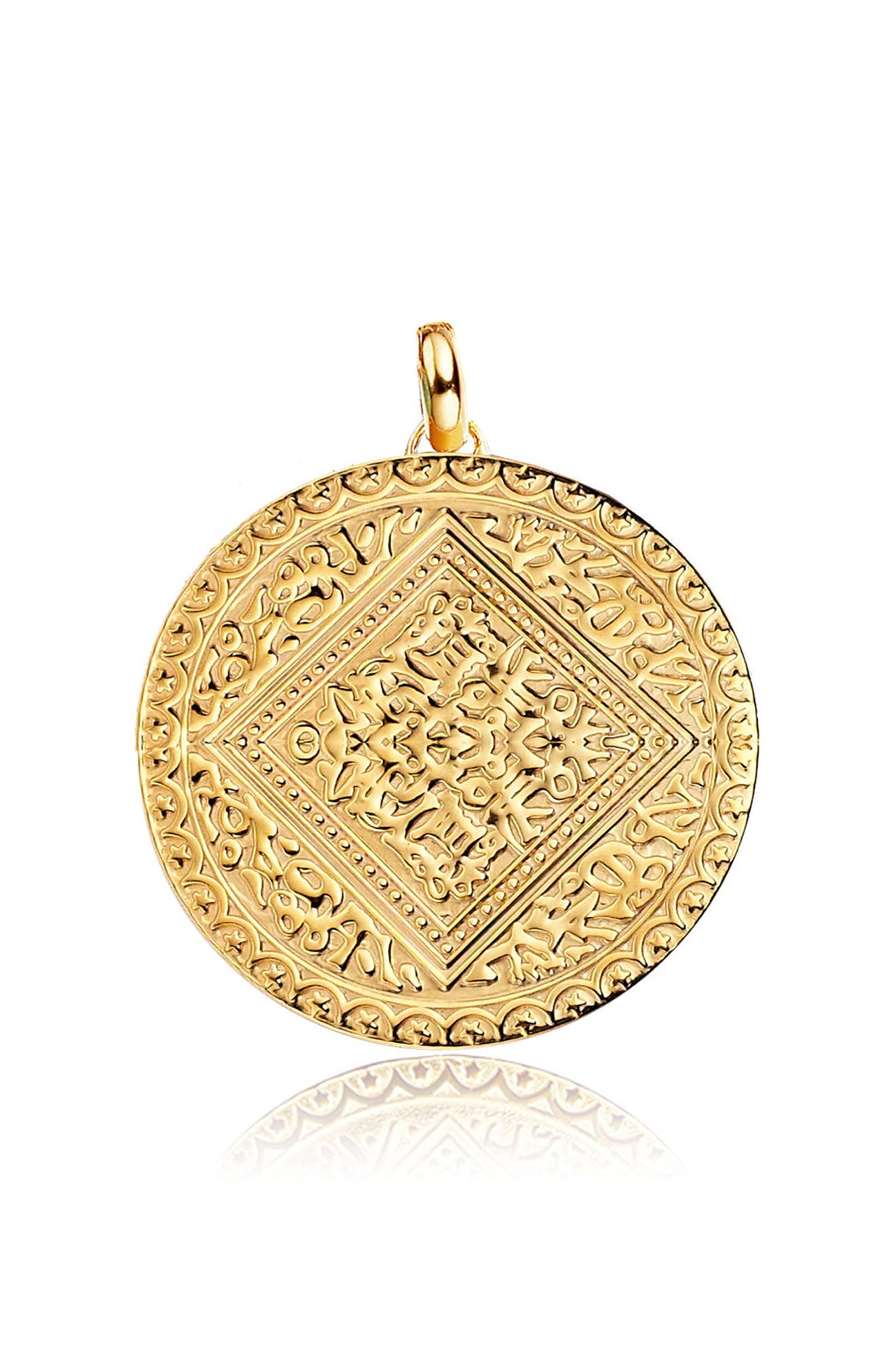 Mini Marie Pendant,                         Main,                         color, YELLOW GOLD