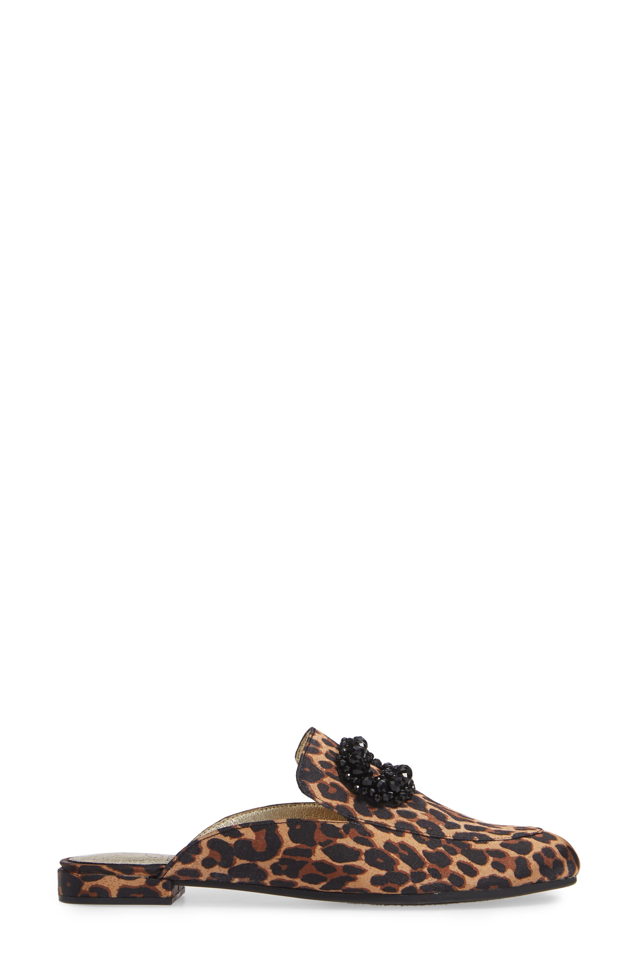 ADRIANNA PAPELL,                             Becky Embellished Mule,                             Alternate thumbnail 3, color,                             LEOPARD