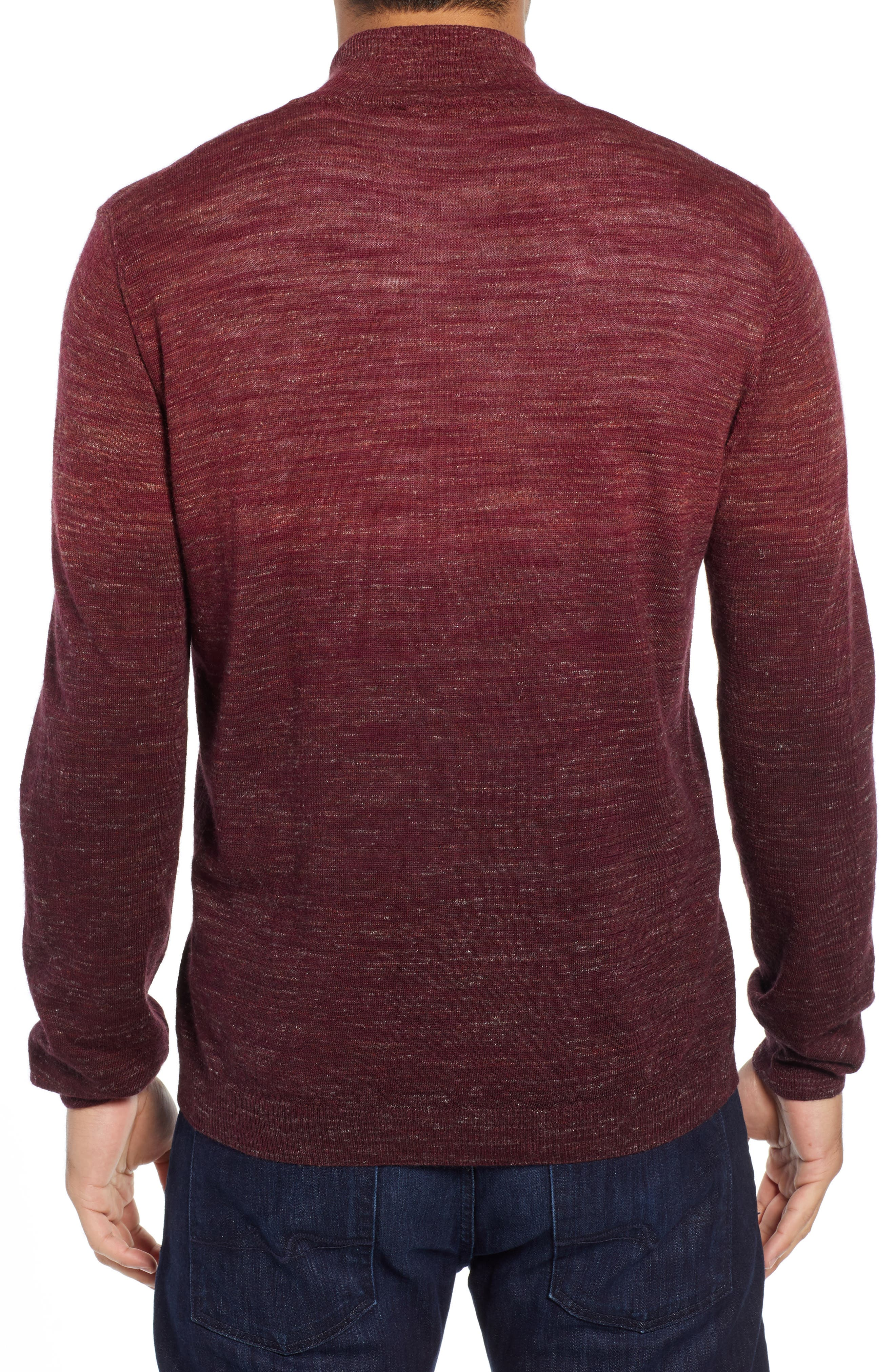Quarter Zip Pullover,                             Alternate thumbnail 2, color,                             WINE