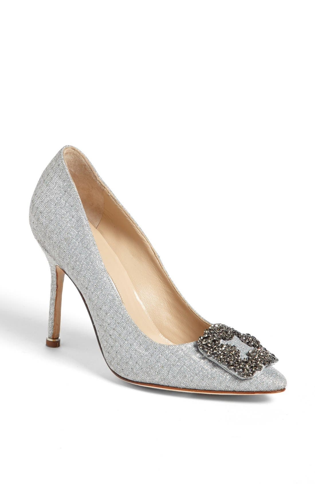 'Hangisi' Jeweled Pump,                         Main,                         color, SILVER