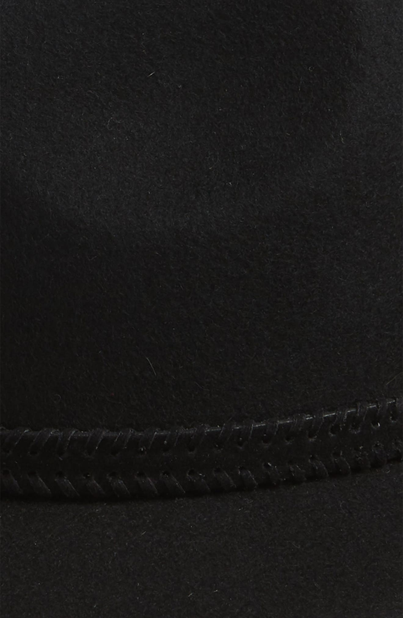 Felt Panama Hat,                             Alternate thumbnail 3, color,                             BLACK