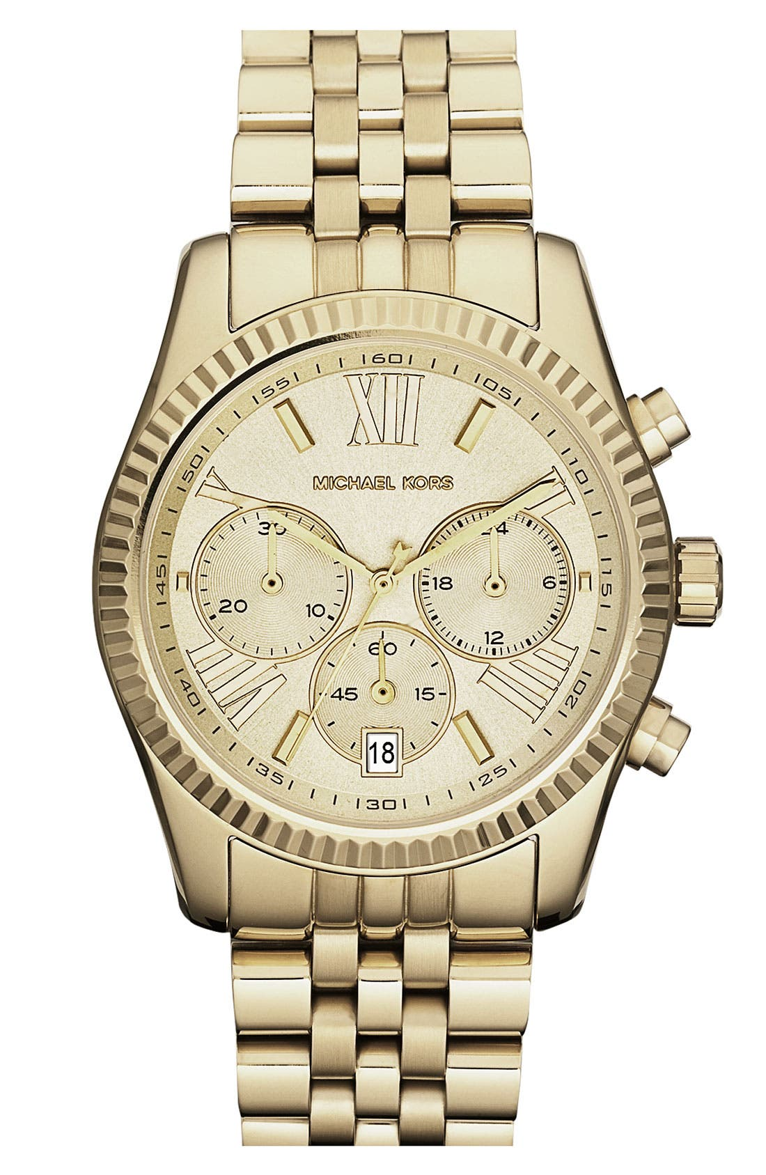 'Lexington' Chronograph Bracelet Watch, 38mm,                             Main thumbnail 8, color,