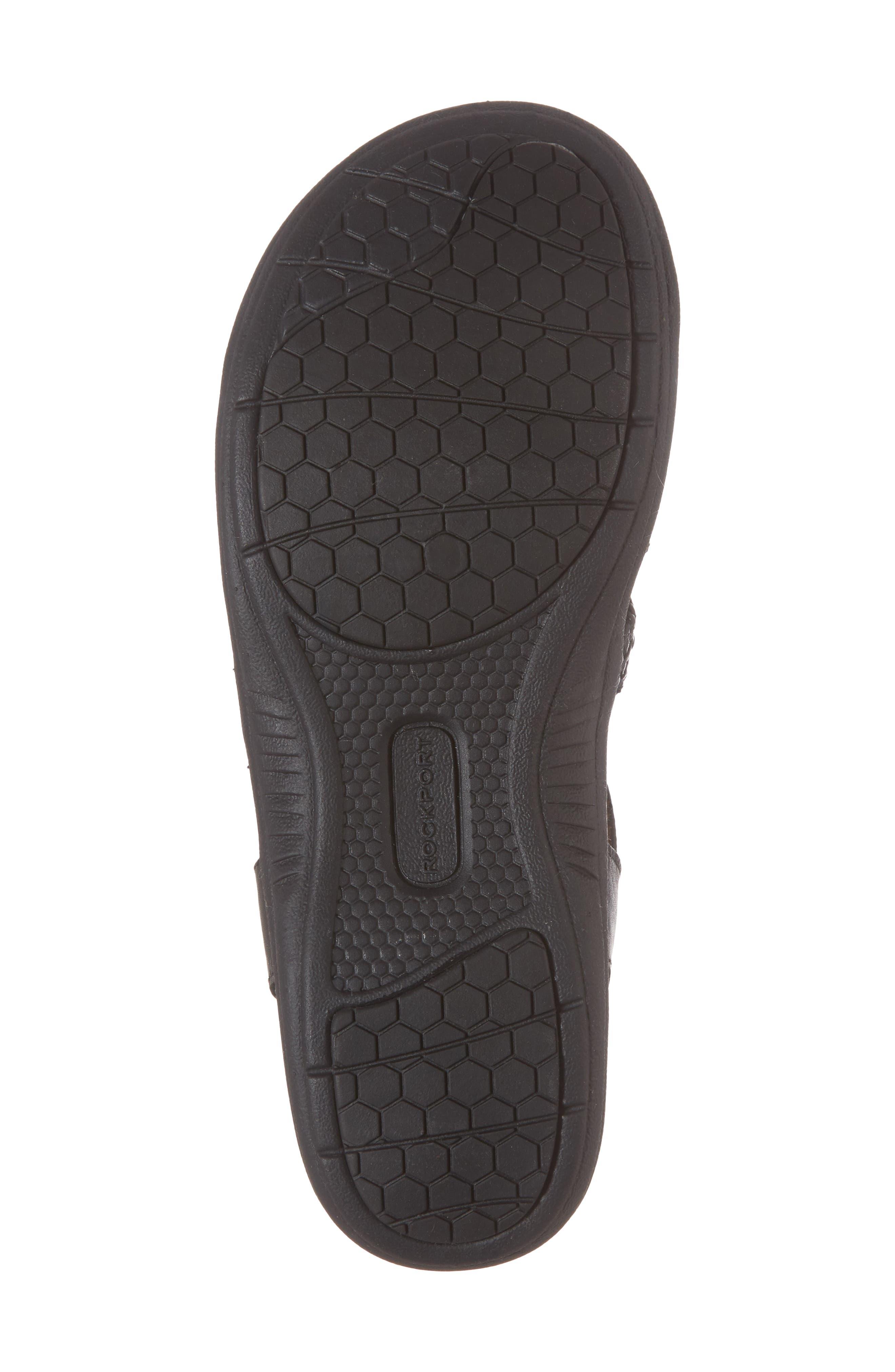 Rubey T-Strap Sandal,                             Alternate thumbnail 6, color,                             BLACK LEATHER