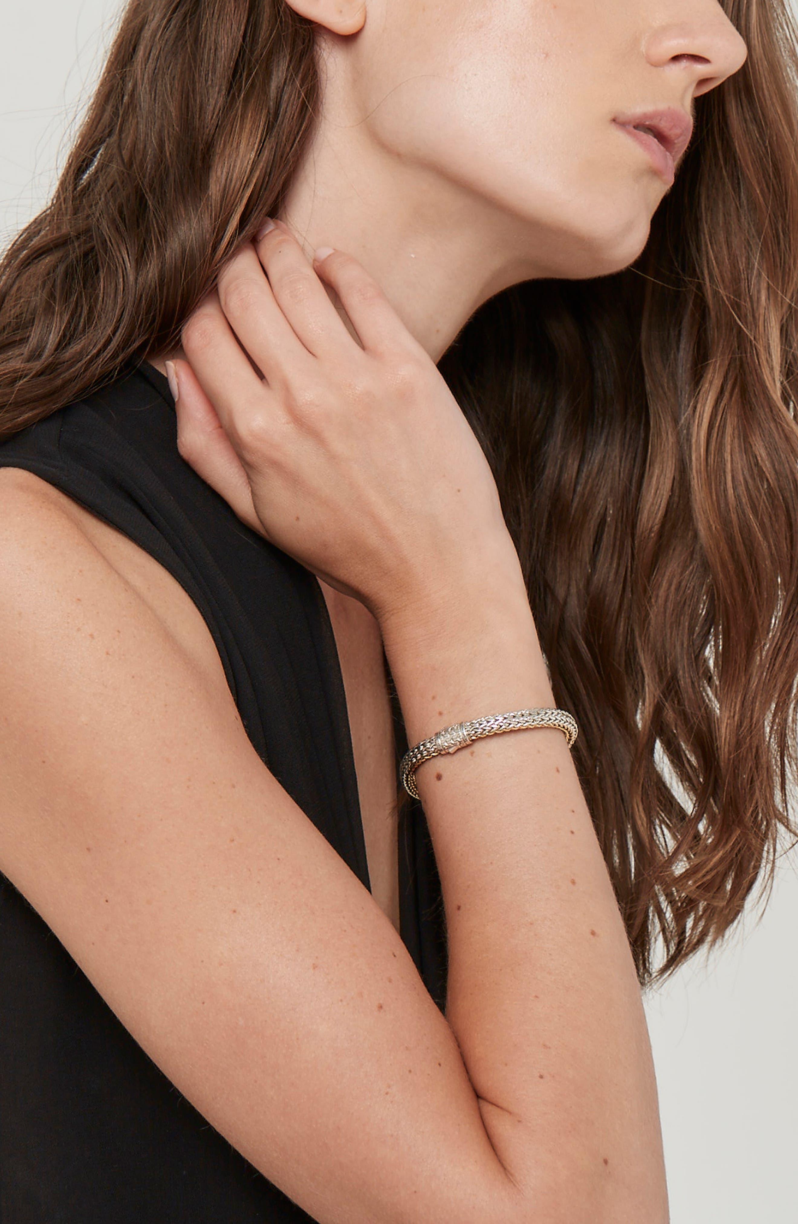 Reversible Classic Chain Bracelet,                             Alternate thumbnail 2, color,                             SILVER/ GOLD