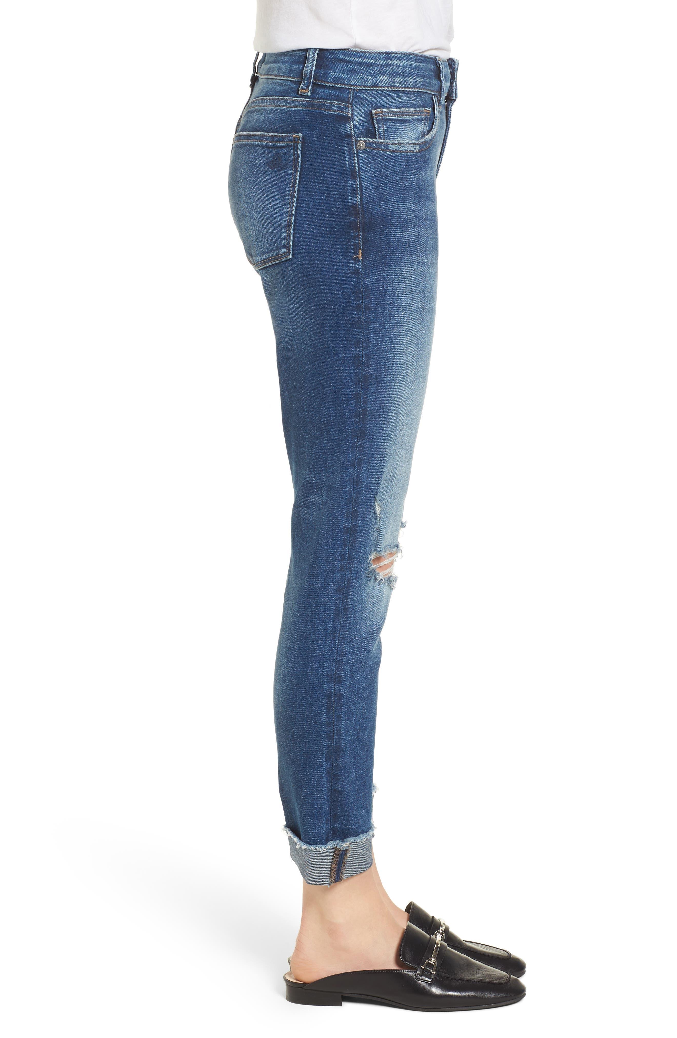 Florence Instasculpt Crop Skinny Jeans,                             Alternate thumbnail 3, color,                             400