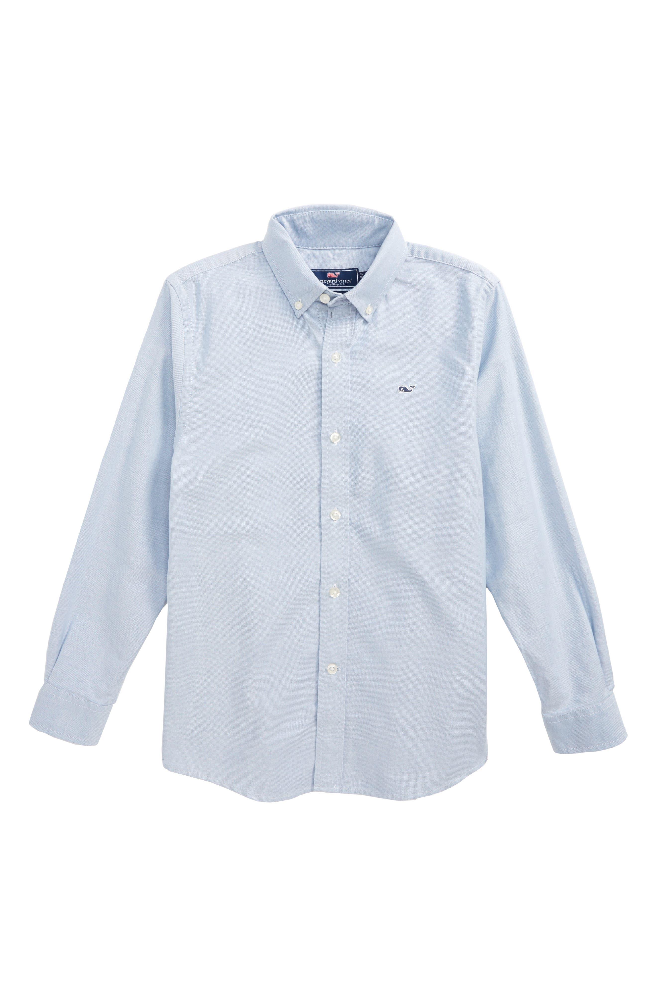 Woven Oxford Shirt,                             Main thumbnail 1, color,                             455