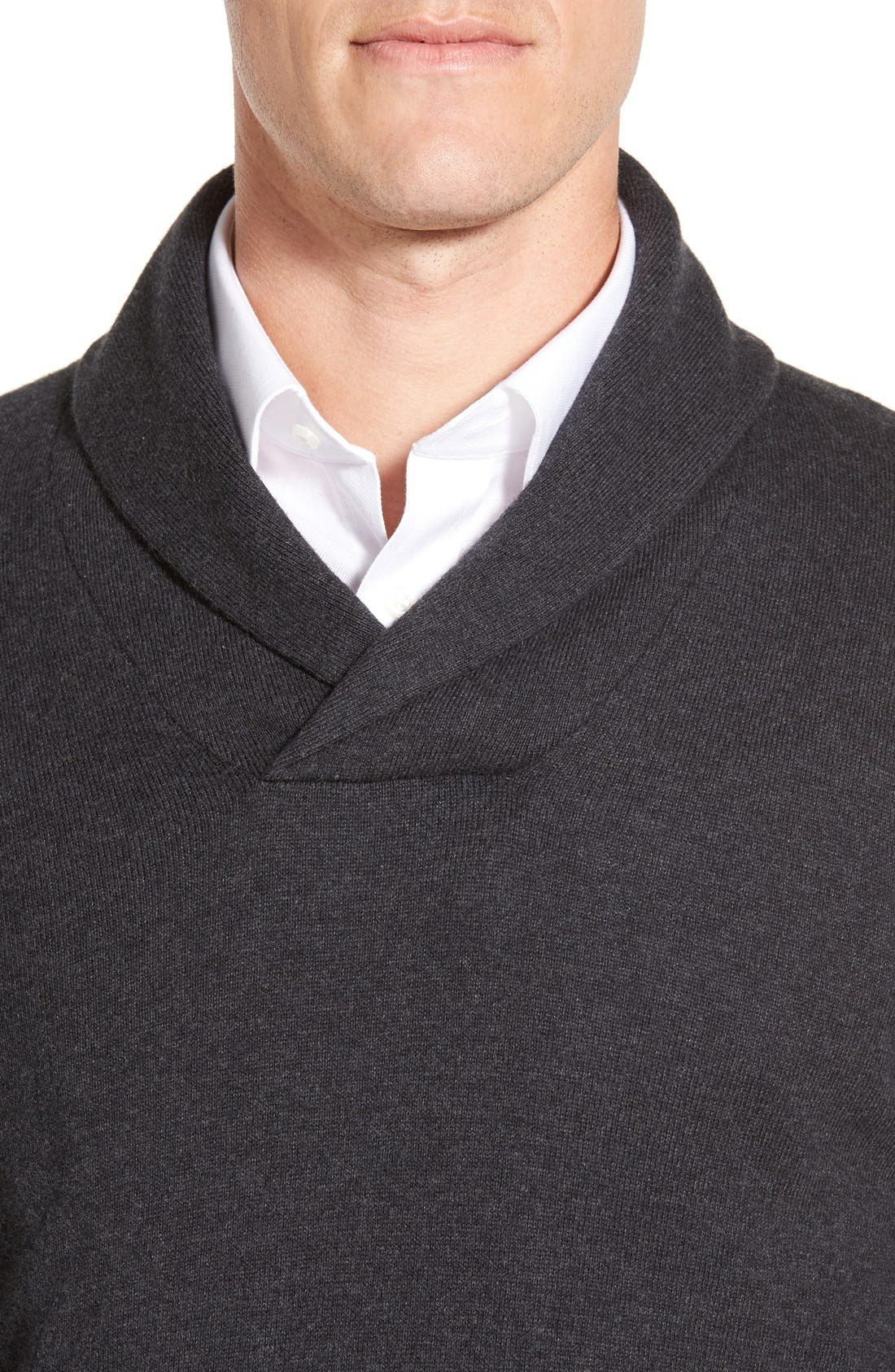 Men's Shop Shawl Collar Sweater,                             Alternate thumbnail 4, color,                             021