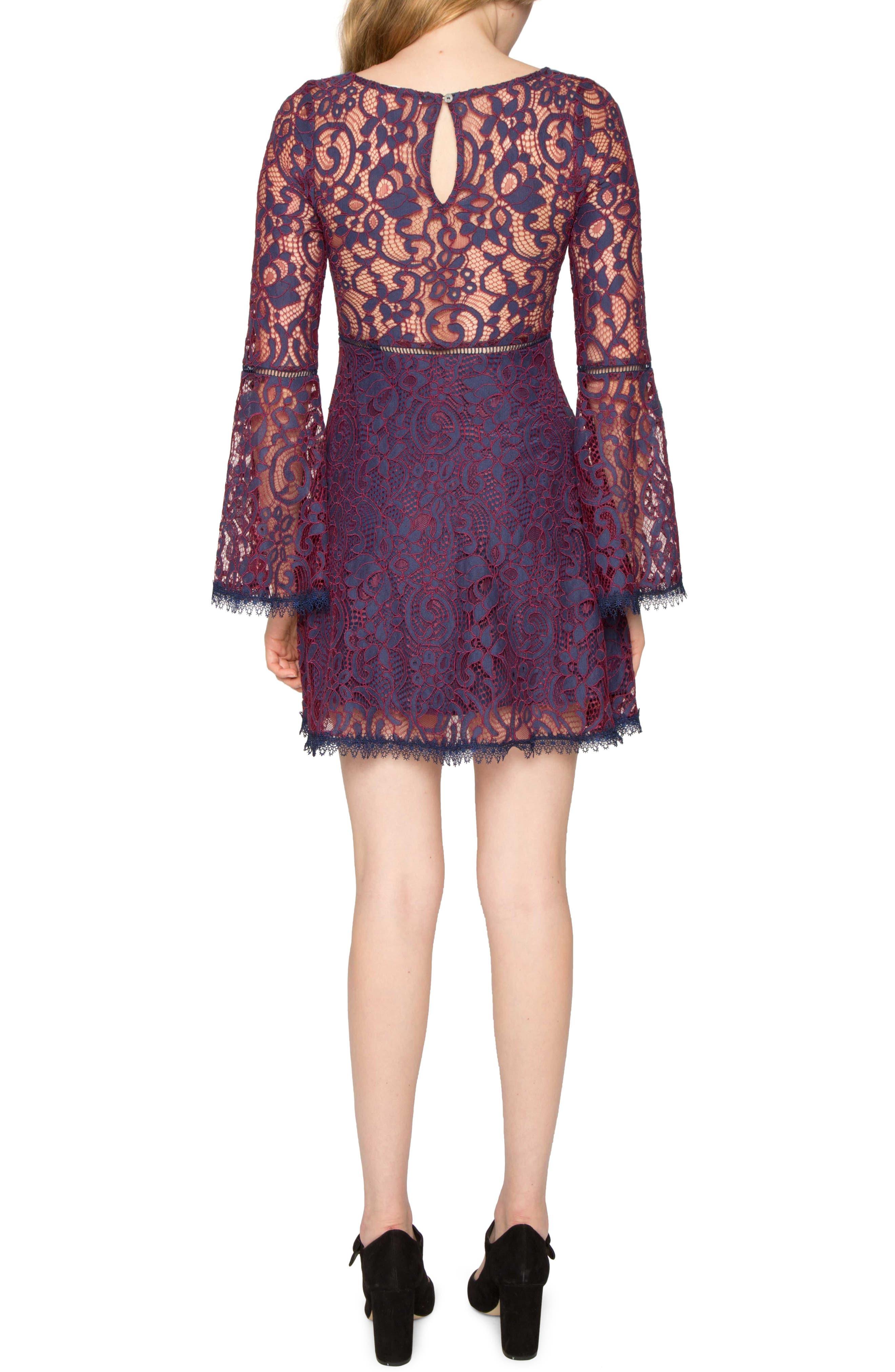 Lace Dress,                             Alternate thumbnail 2, color,                             415