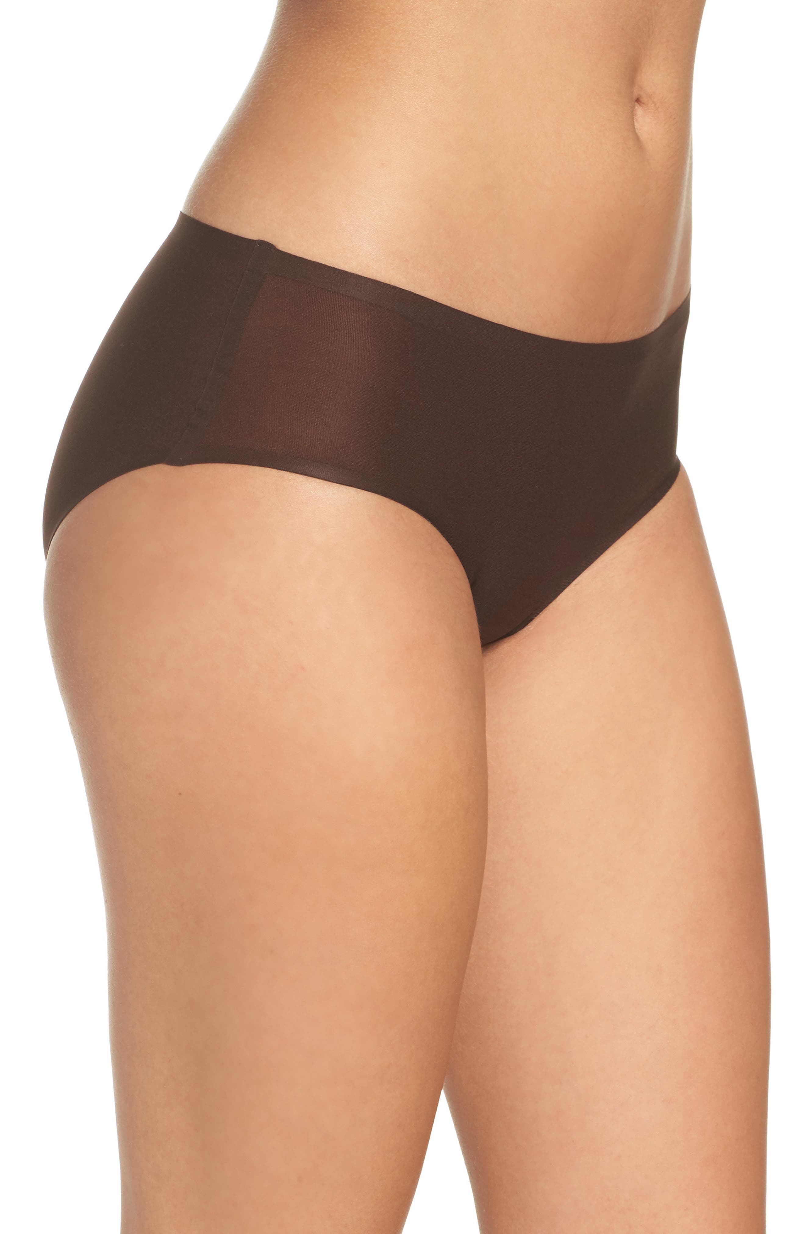 Soft Stretch Seamless Hipster Panties,                             Alternate thumbnail 3, color,                             BROWN