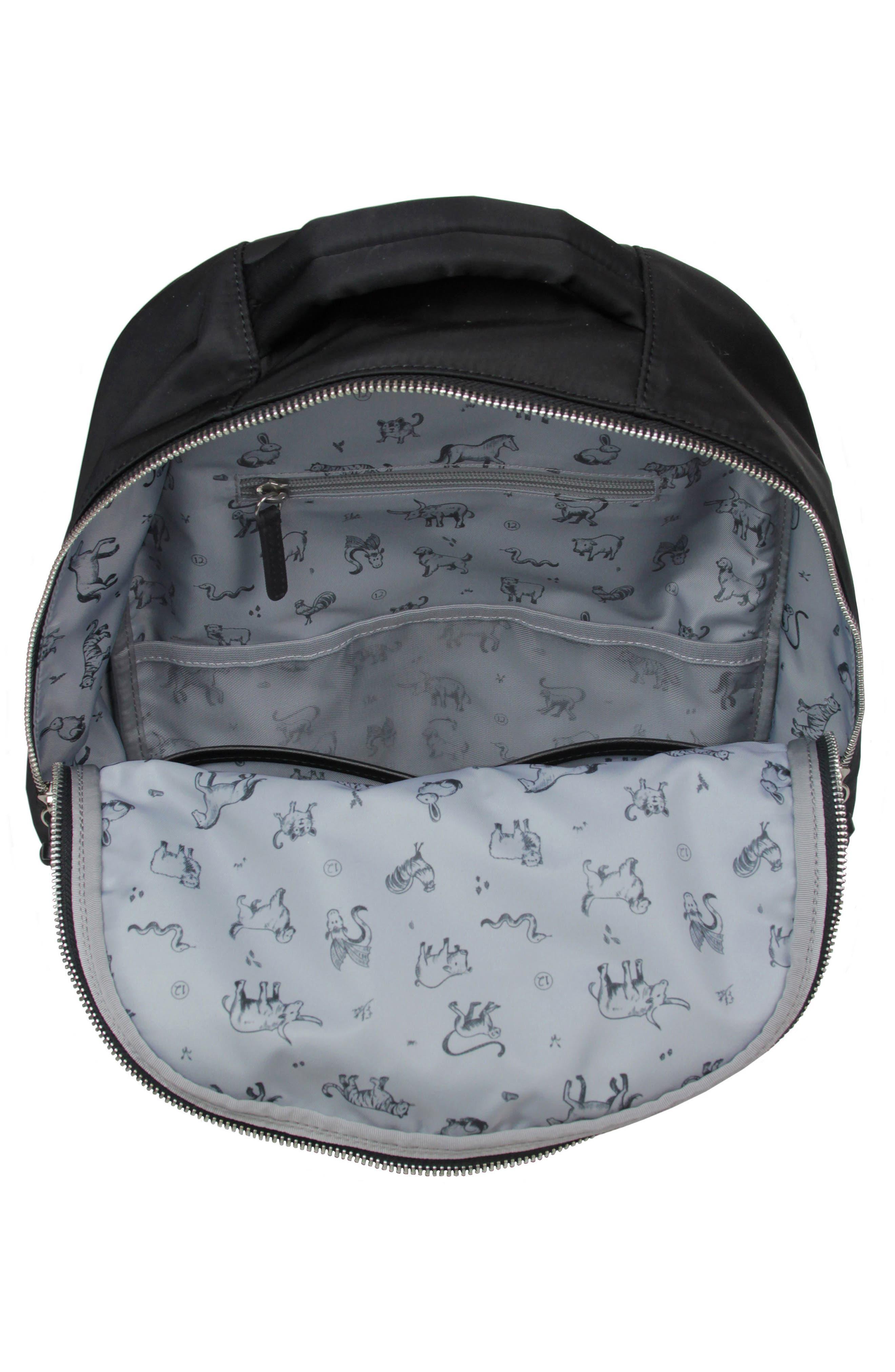 Mini-Go Water Resistant Diaper Backpack,                             Alternate thumbnail 3, color,                             BLACK